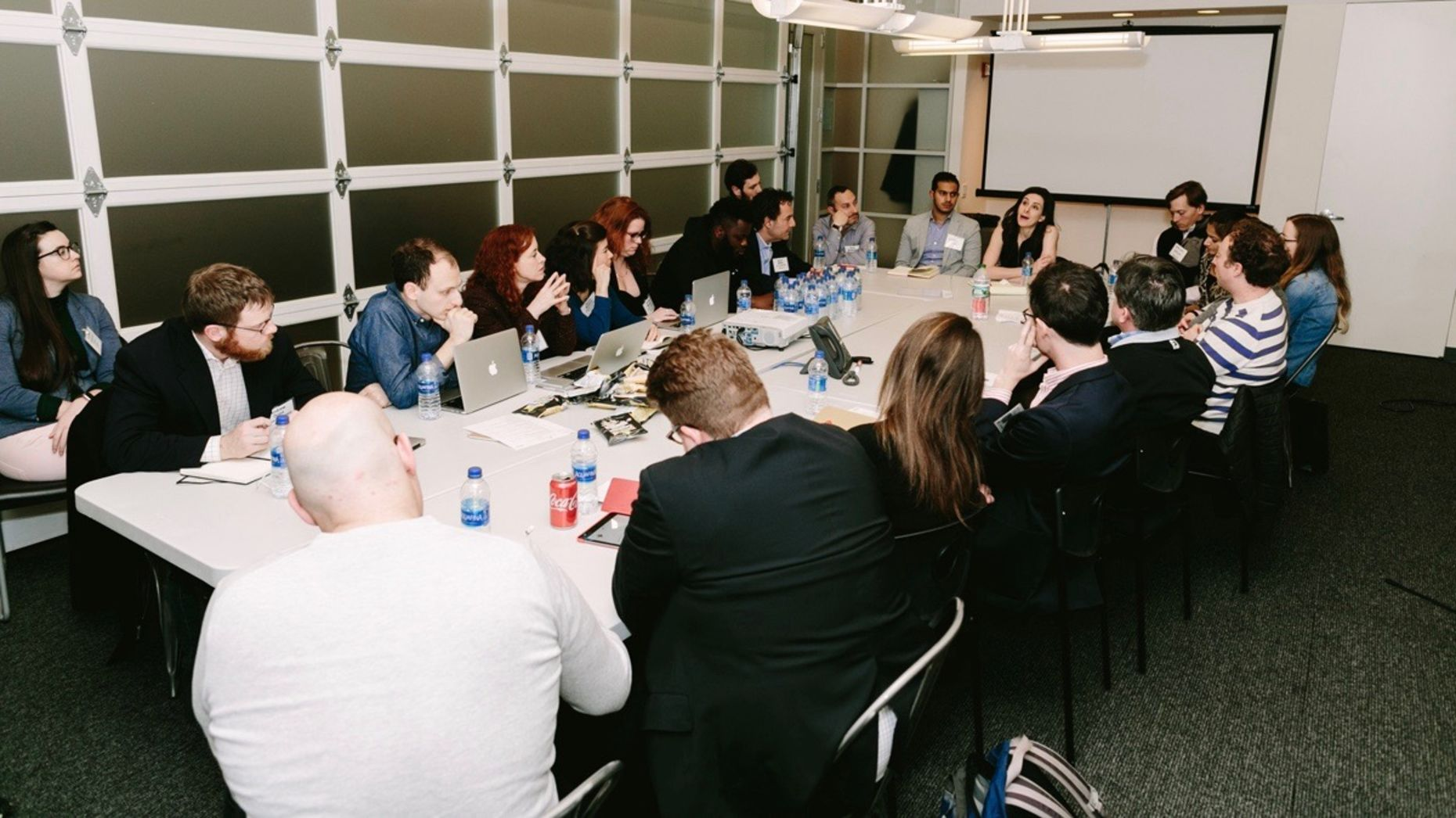 The Information Accelerator's Media Bootcamp in New York earlier this year. Photo by Karen Obrist.