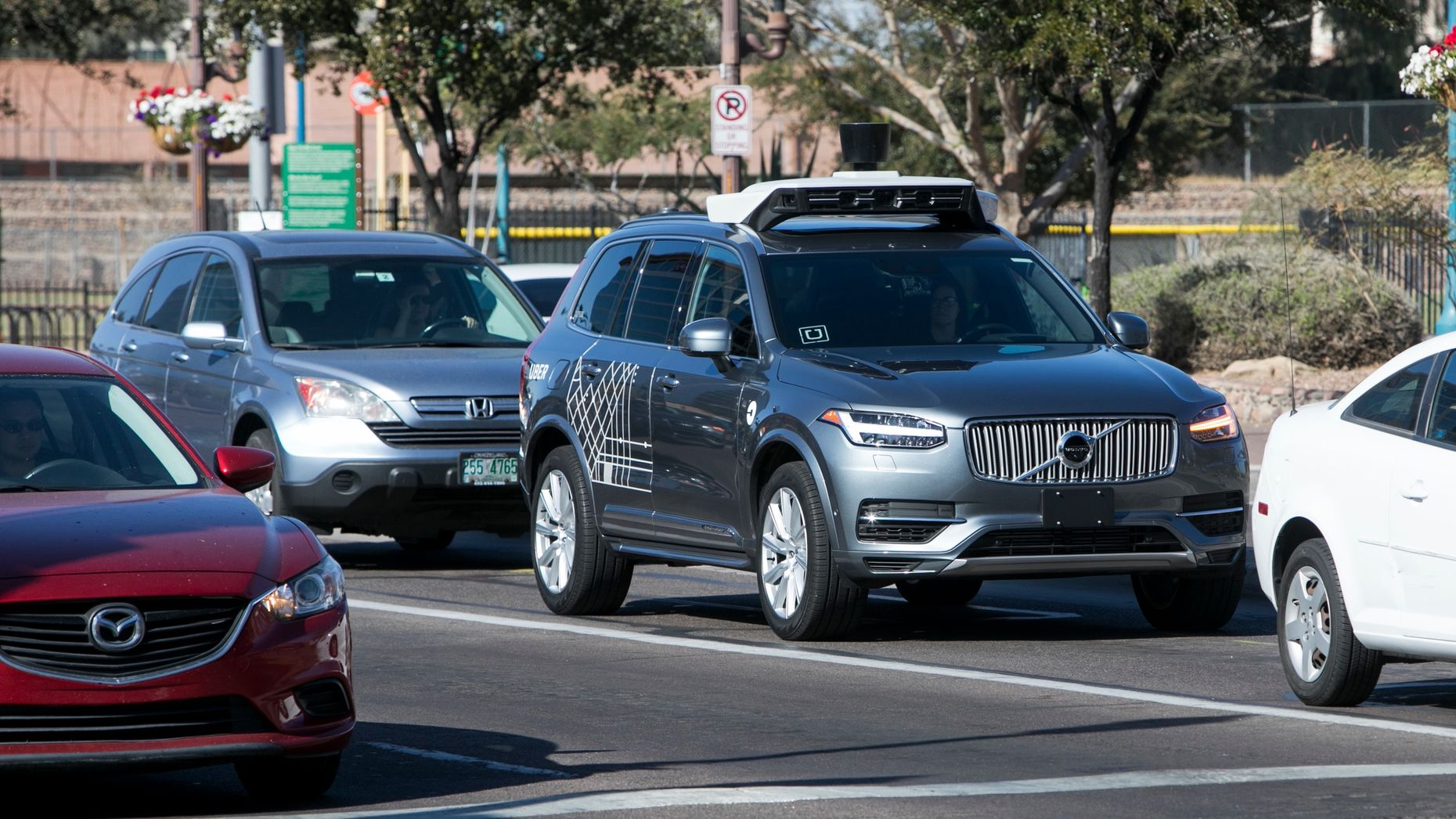 An Uber self-driving car being tested earlier this year. Photo by AP