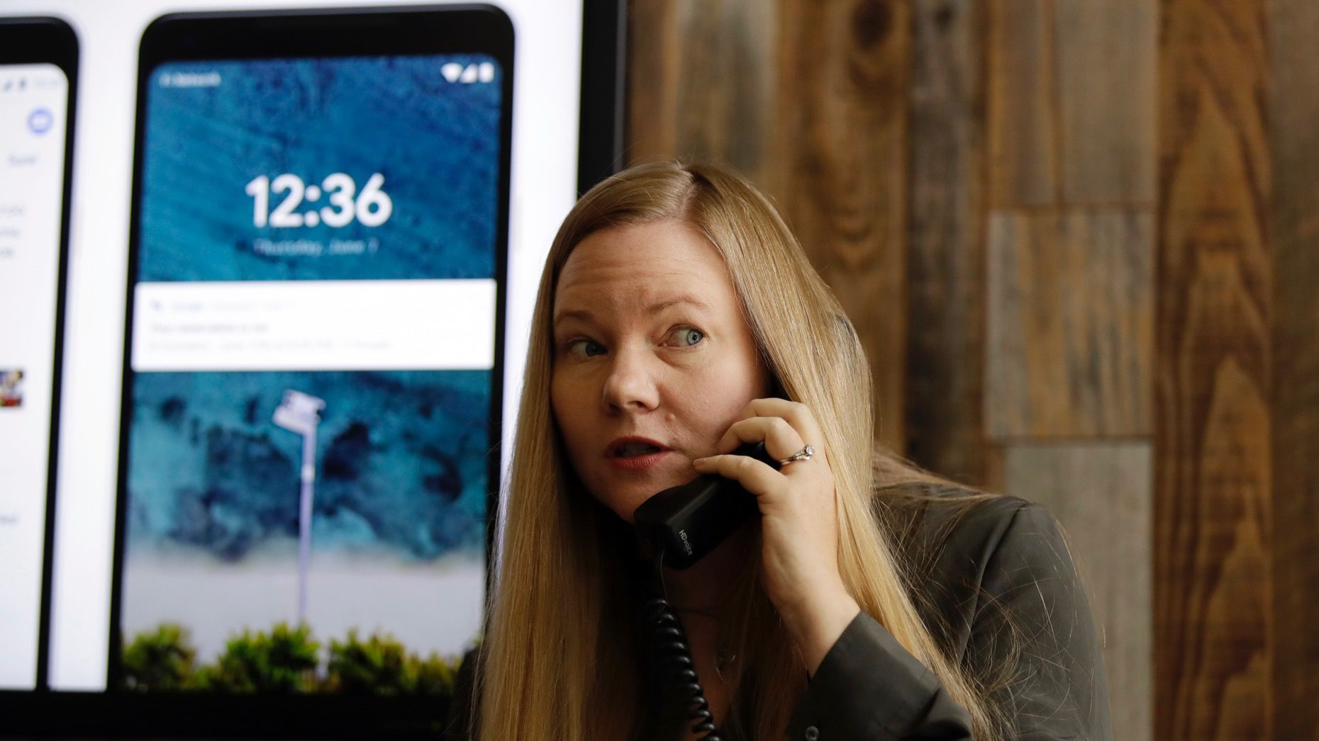 Valerie Nygaard, product manager for Google, presented a demo of the Duplex program last month. Photo: AP