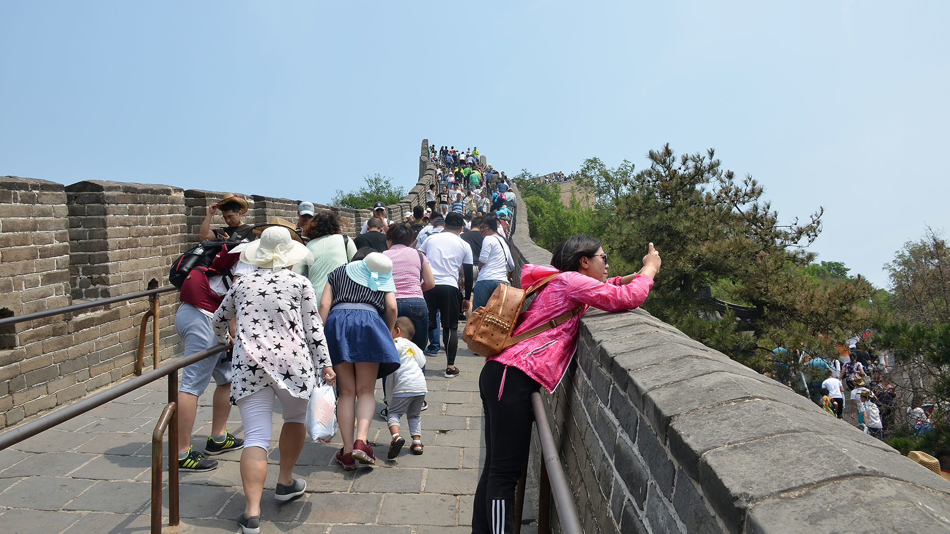 Visitors on the Great Wall of China. Photo by shankar s./Flickr