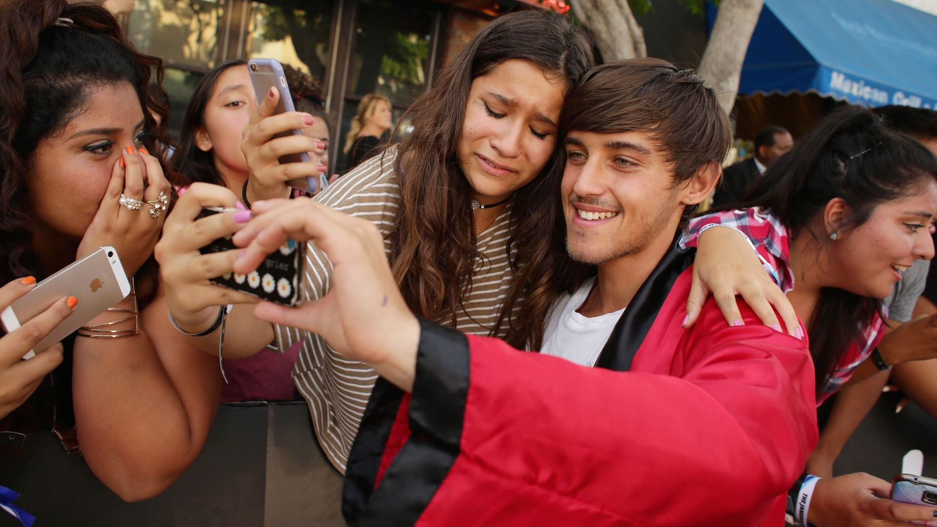 Beau Brooks at the  Los Angeles premiere of Awesomeness Film's Janoskians:Untold and Untrue in 2015. Photo by AP