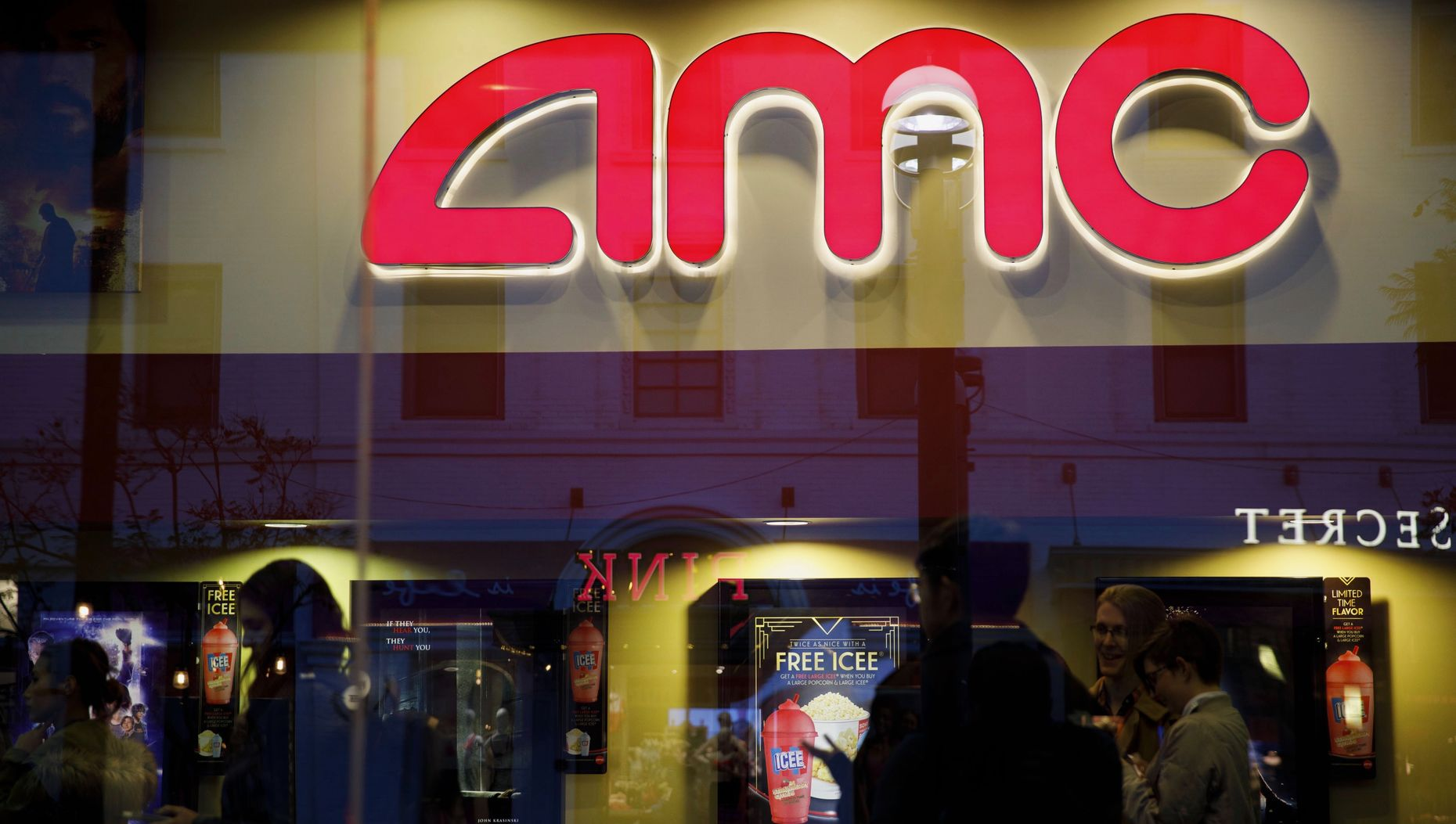 An AMC theater in Santa Monica, California. Photo by Bloomberg