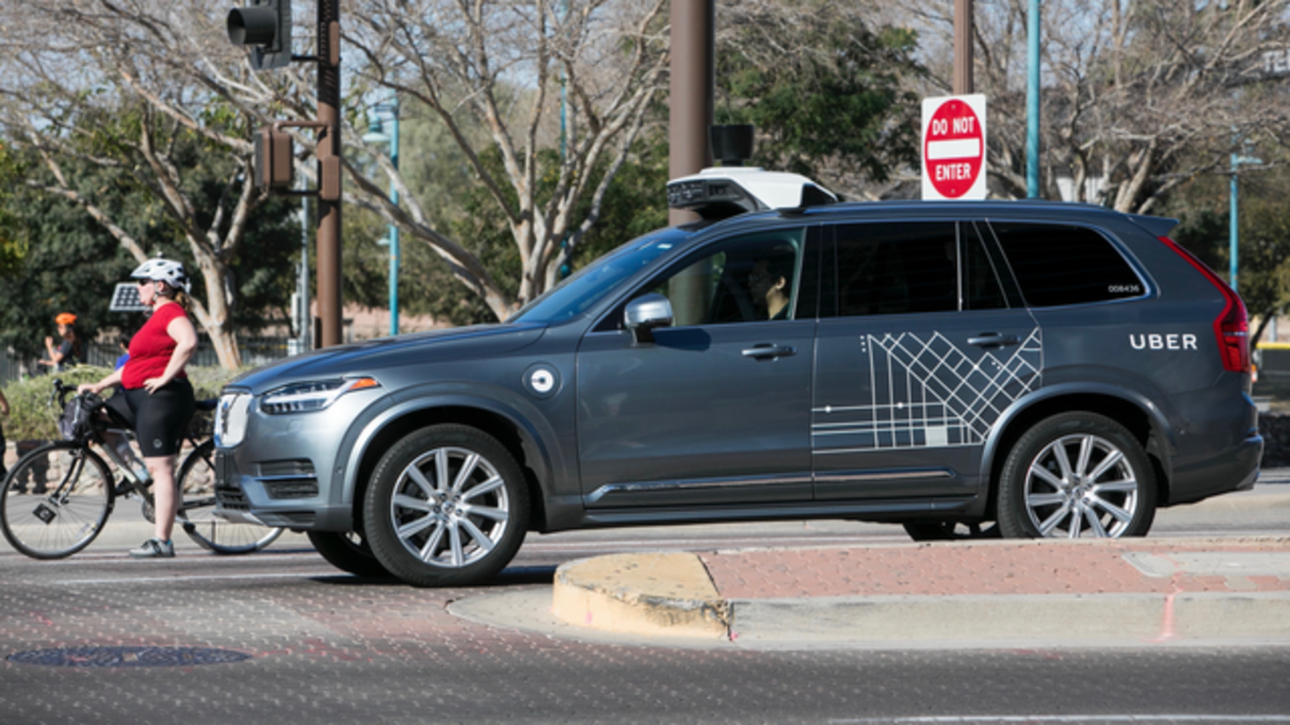 An Uber self driving car in Phoenix in February. Photo by AP