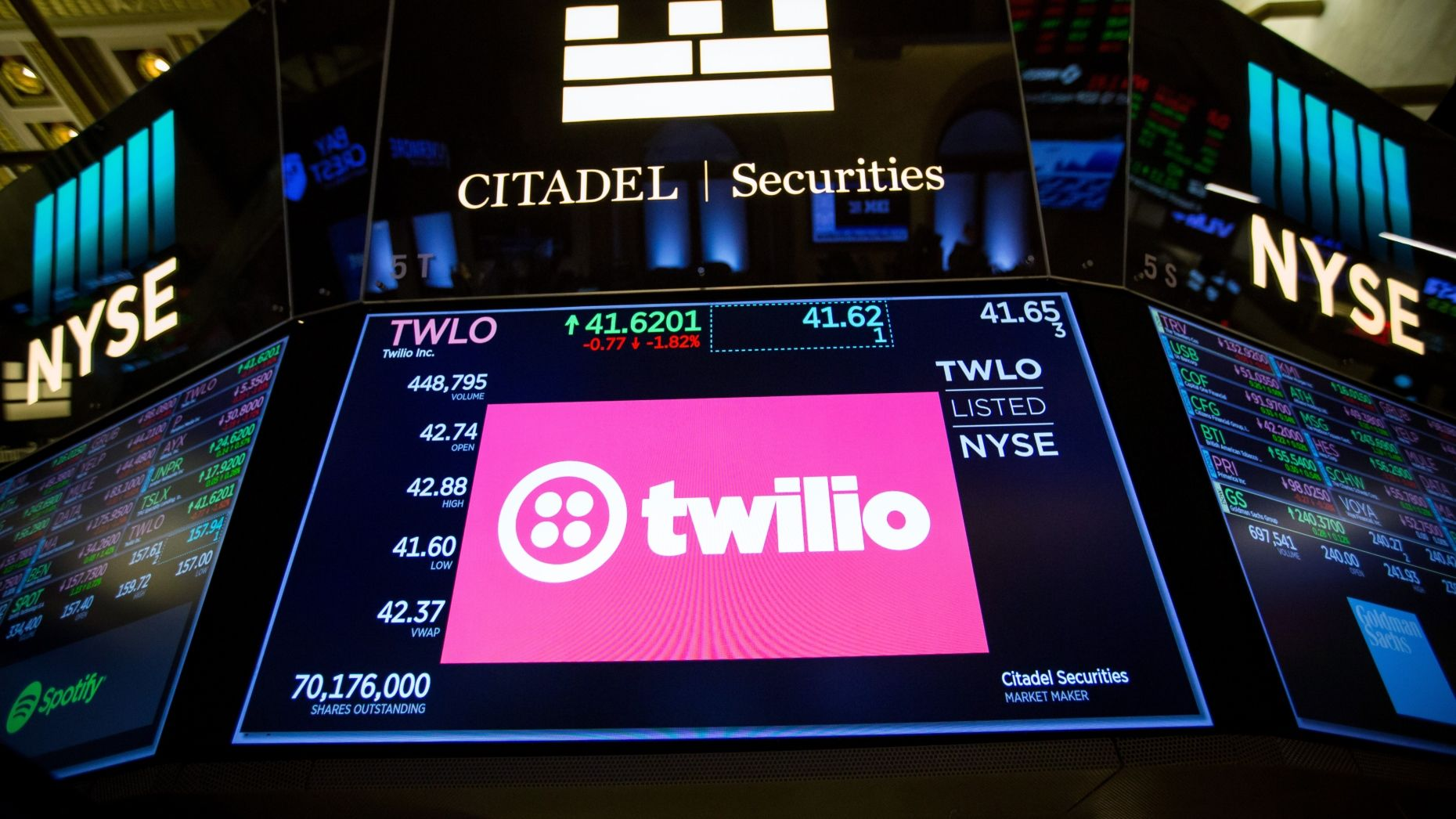 Software maker Twilio was among the companies in which mutual funds sold a substantial portion of their holdings post-IPO. Photo: Bloomberg