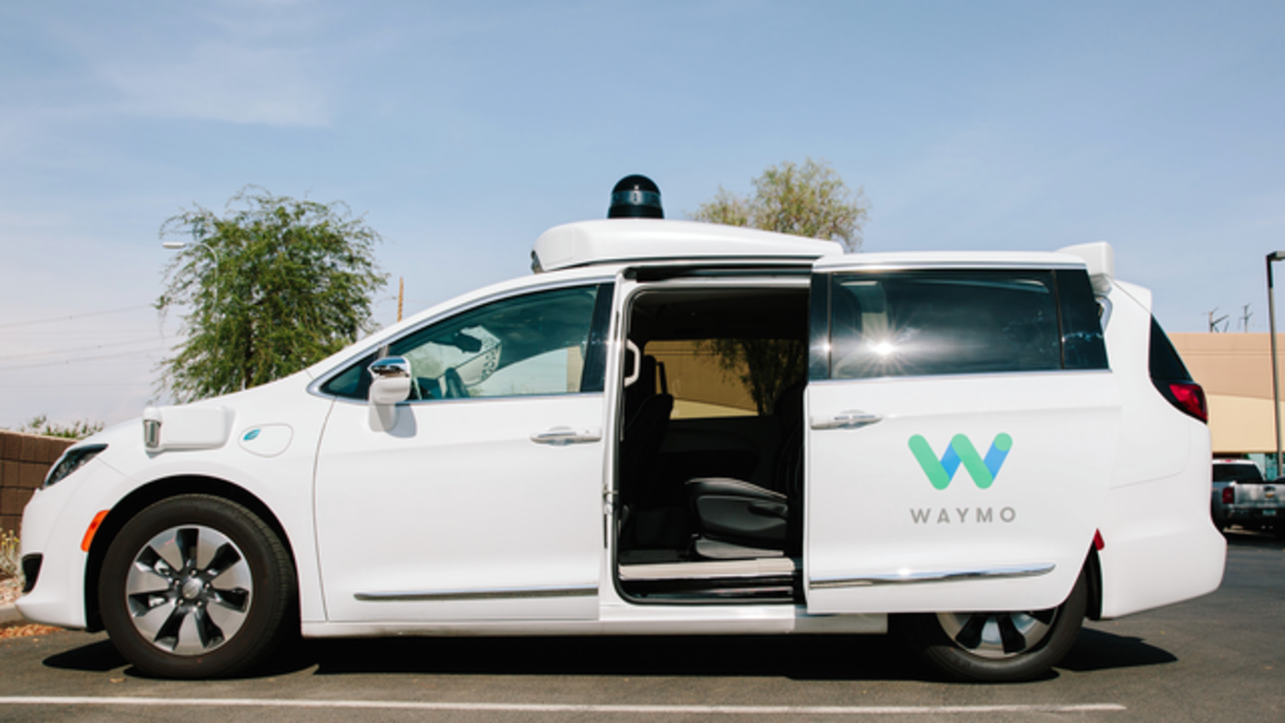 A Waymo vehicle sits parked in Chandler, Ariz. Photo: Bloomberg