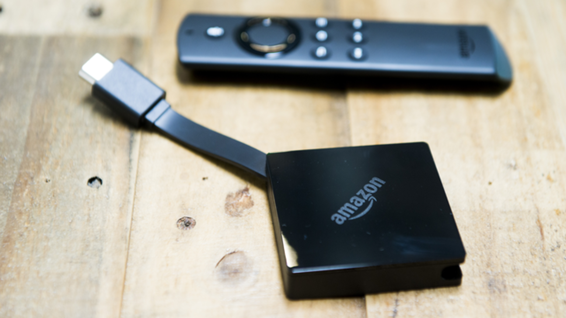 Amazon's latest Fire Stick TV devices introduced last year. Photo by Bloomberg