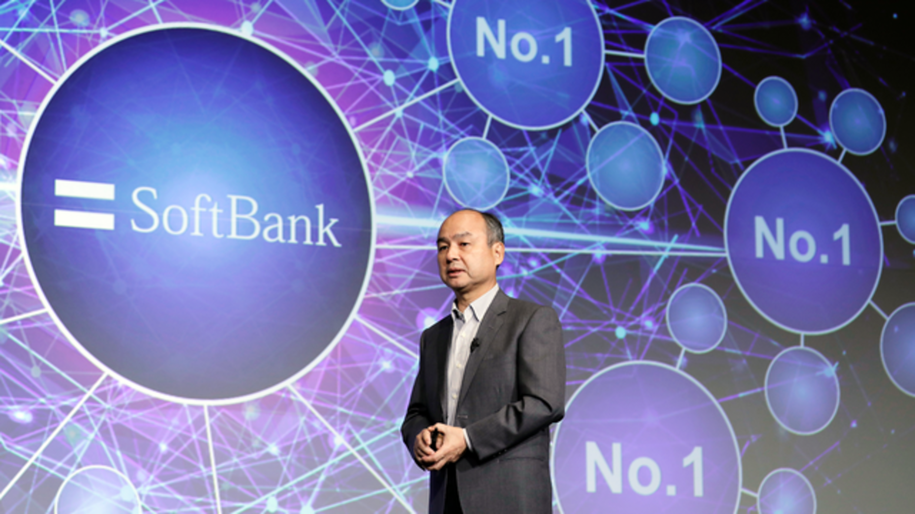 SoftBank CEO Masayoshi Son at a news conference in Tokyo last month. Photo: Bloomberg