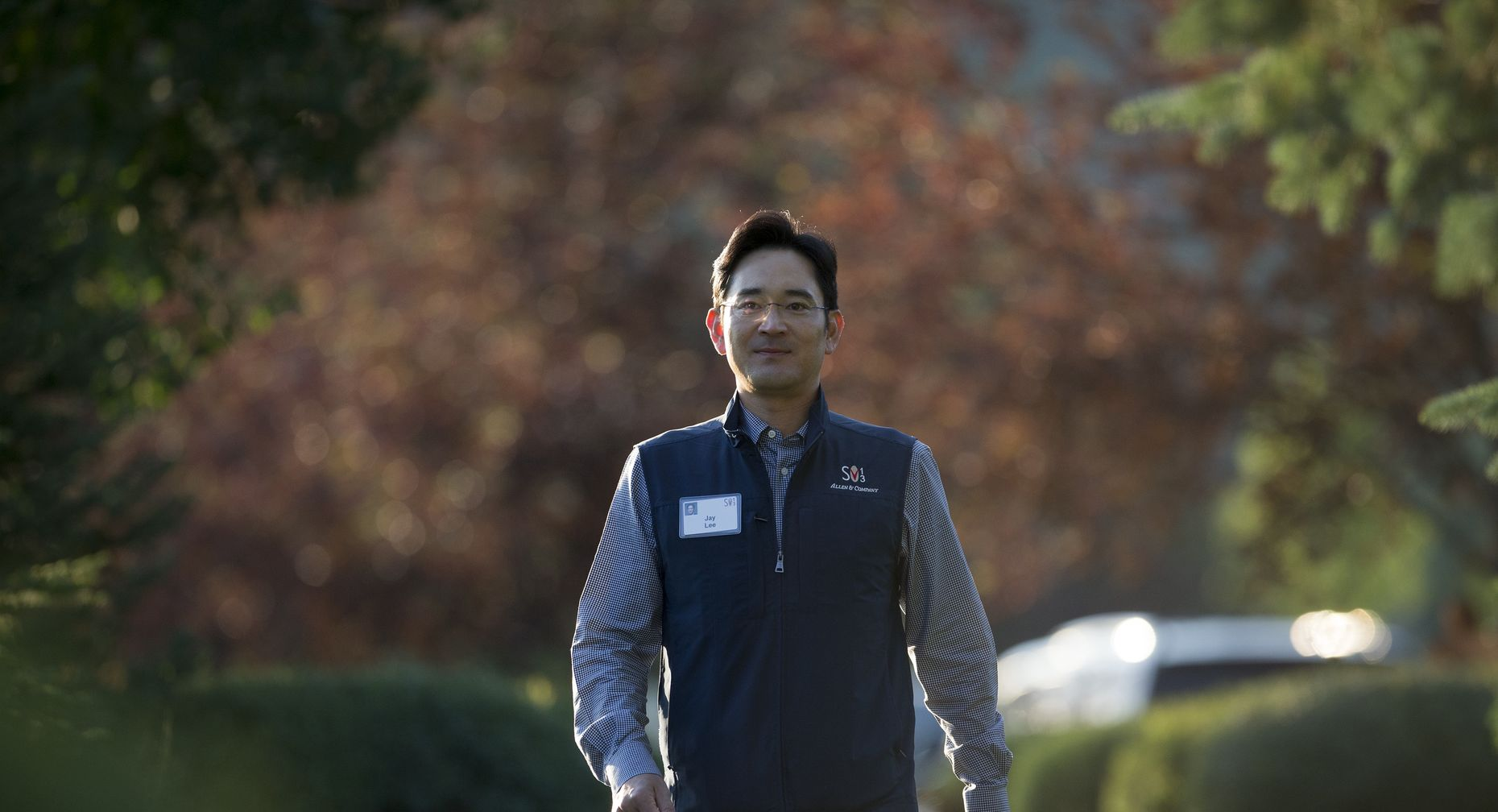 Samsung Vice Chairman Jay Y. Lee at Sun Valley a year ago. Photo by Bloomberg.