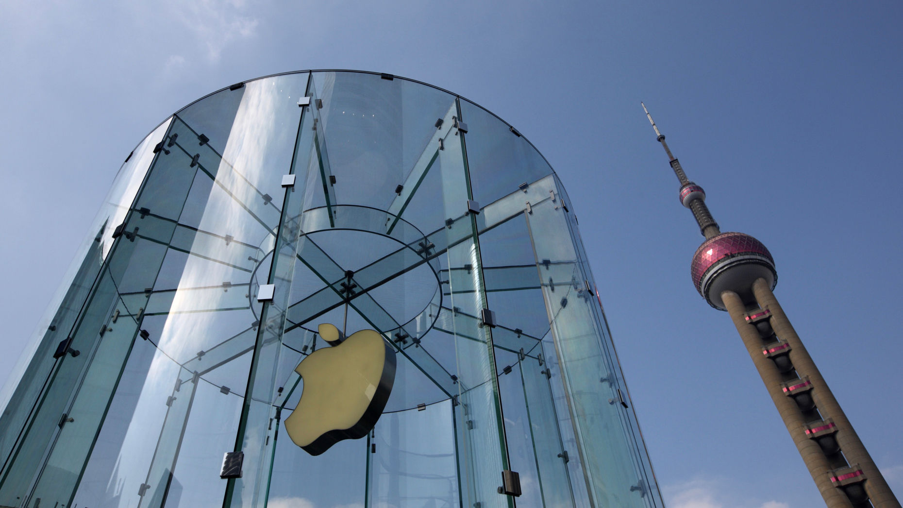 Apple's store in the Pudong district of Shanghai, China. Photo by Bloomberg
