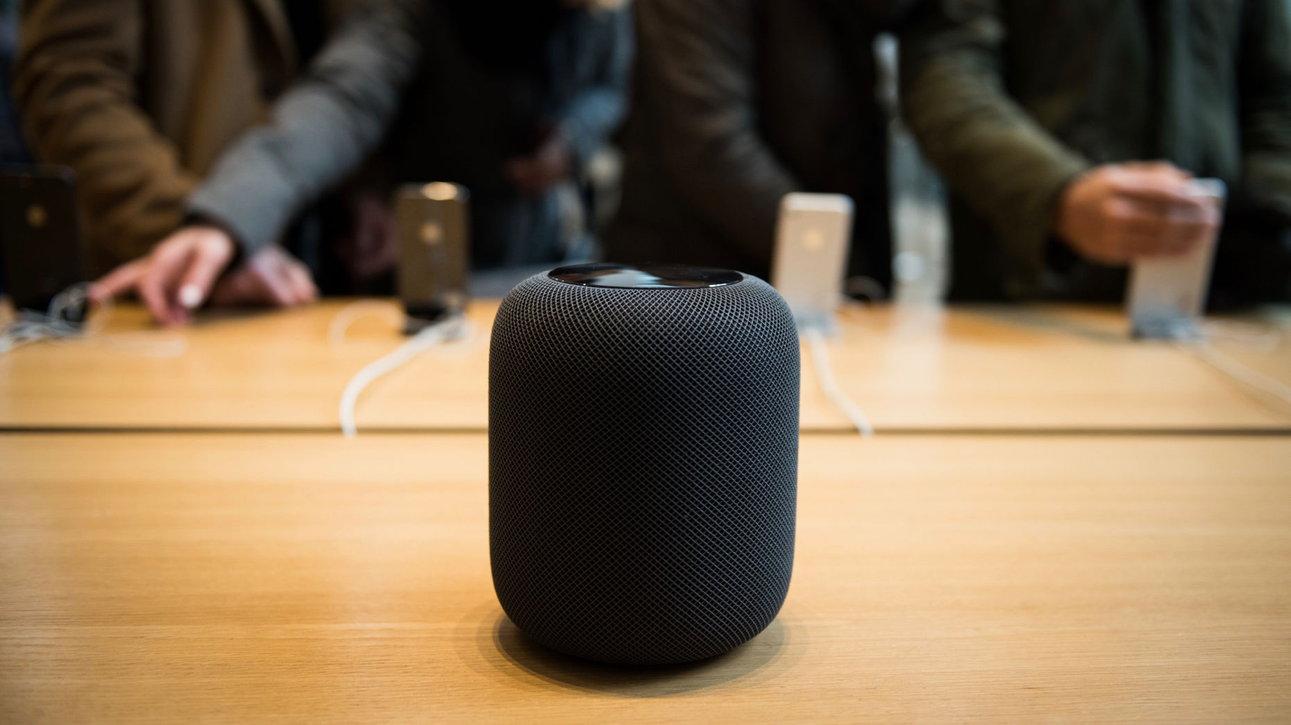 Apple's HomePod features the company's Siri virtual assistant. Photo by Bloomberg