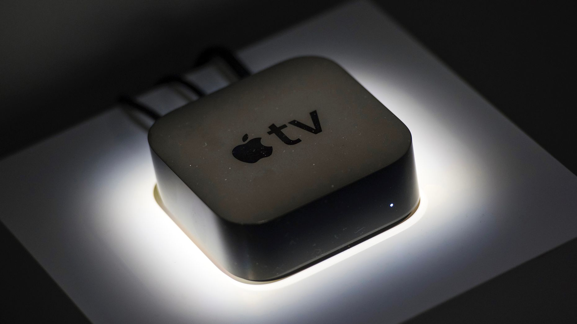Apple's TV streaming box. Photo by Bloomberg