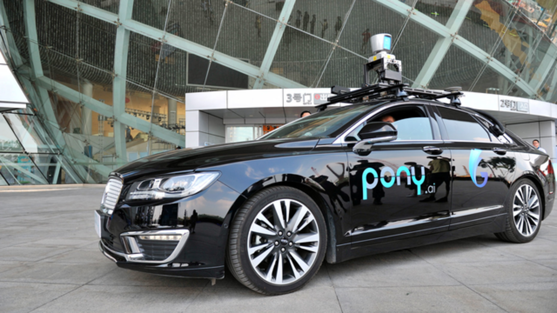 A Pony.ai car. Photo by AP