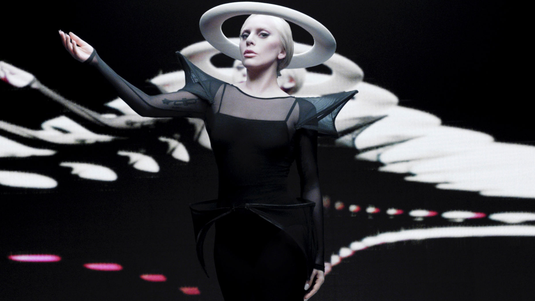 A publicity photo from Lady Gaga's collaboration with Intel. Photo by Intel