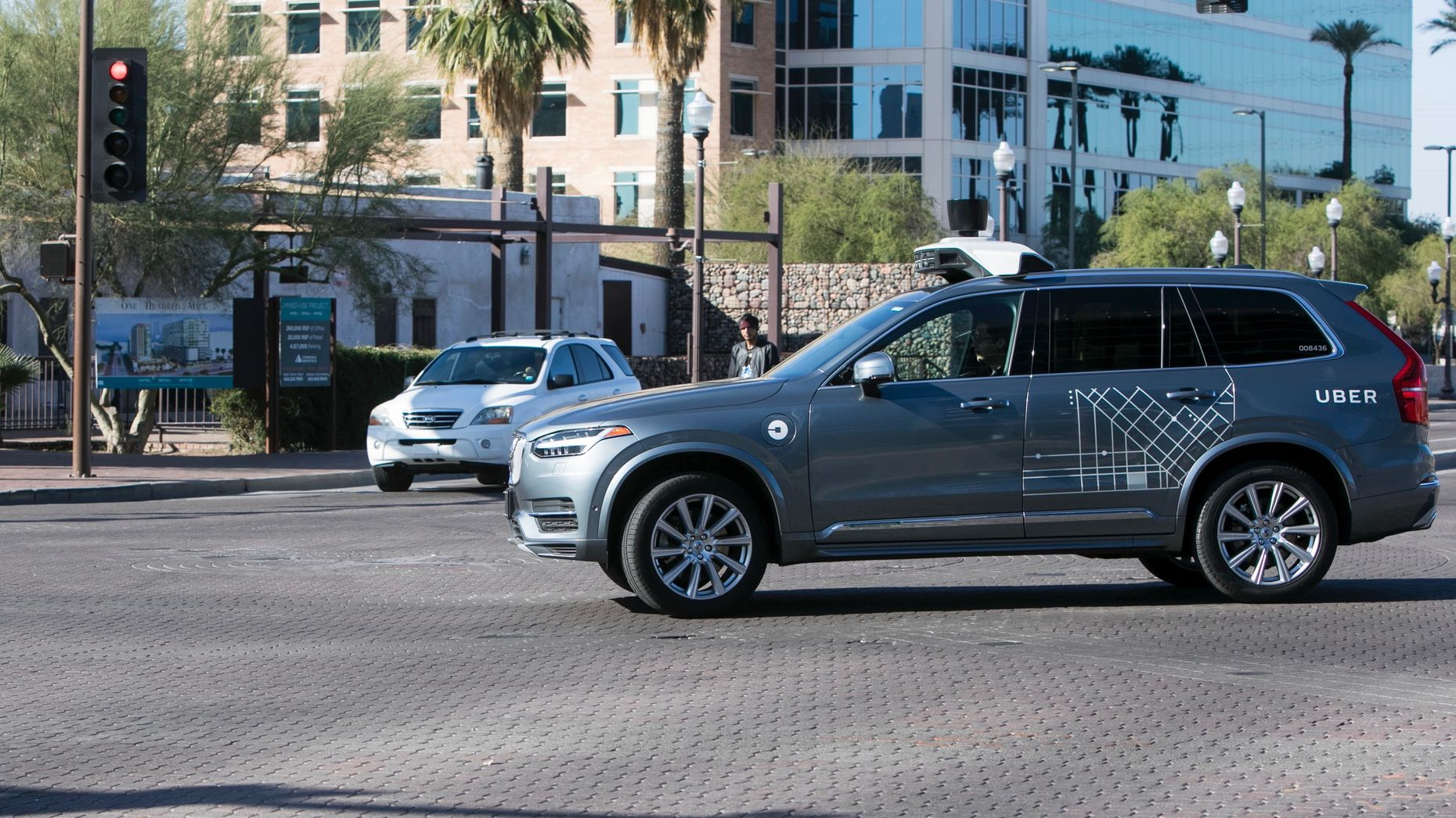An Uber self-driving car being tested in Arizona in February. Photo by AP