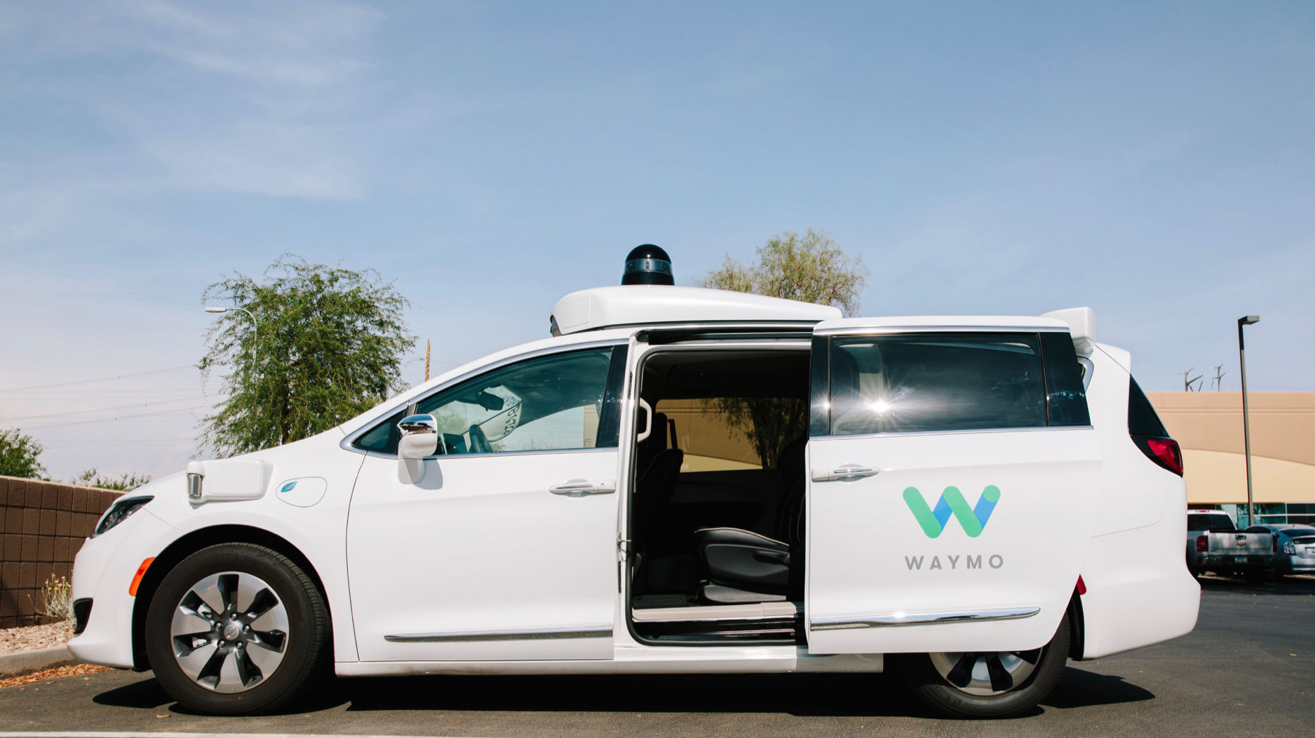 A Waymo autonomous vehicle  in Chandler, Ariz., in July. Photo by Bloomberg