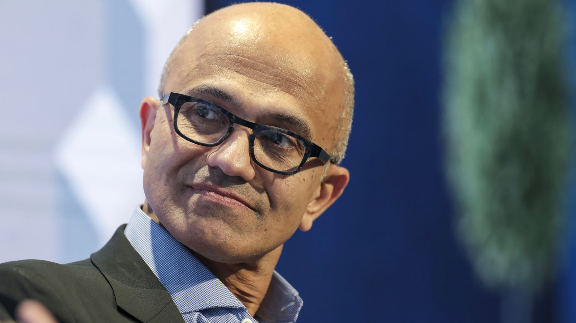 Microsoft CEO Satya Nadella this month at the World Economic Forum in Davos, Switzerland. Photo by Bloomberg