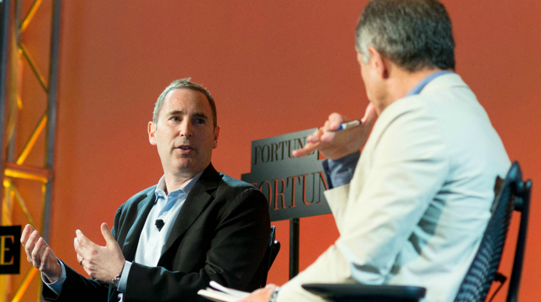 Andy Jassy, head of Amazon Web Services. Photo courtesy of Fortune Brainstorm.