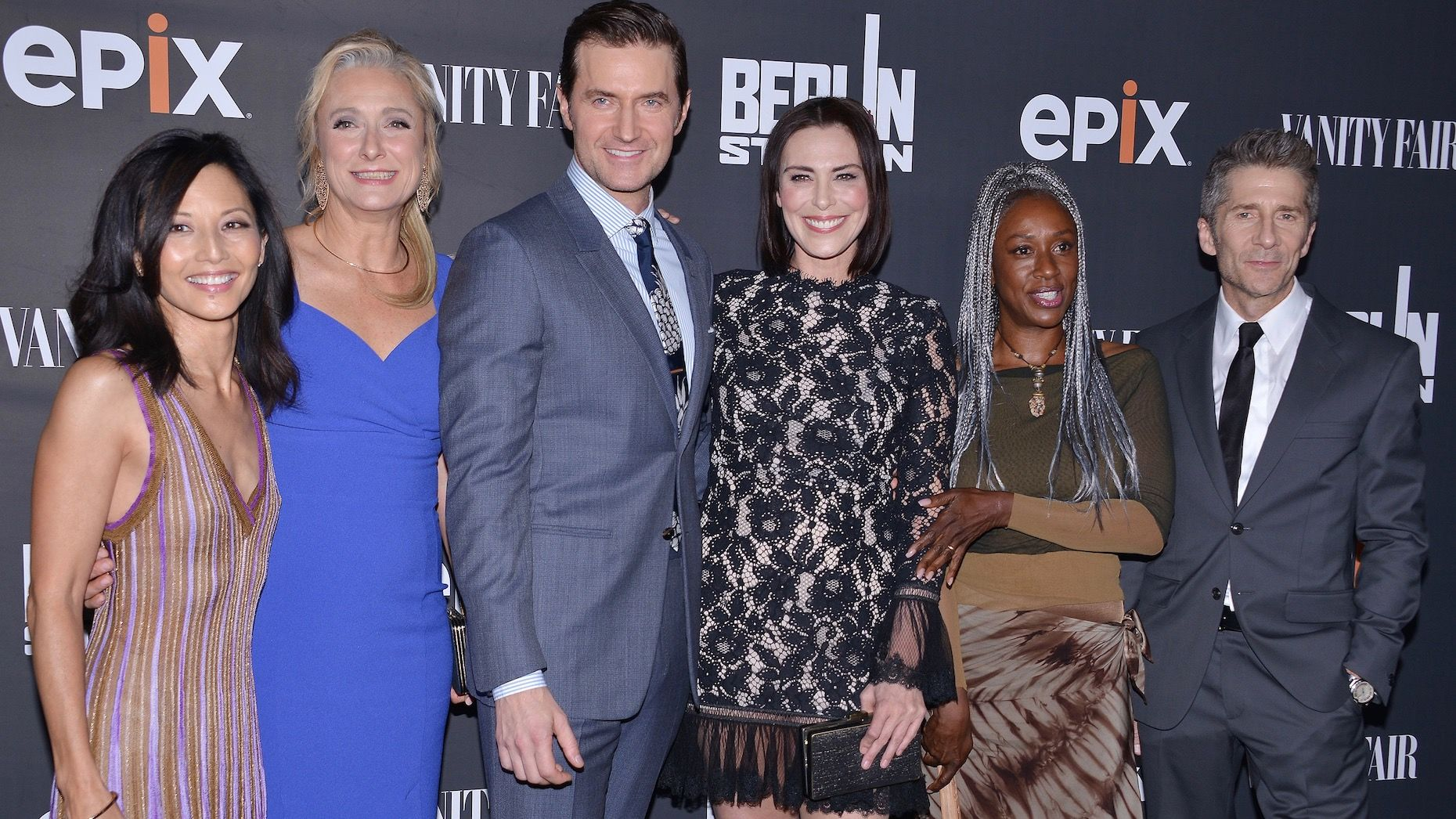 "Cast of Epix's ""Berlin Station"" drama at a premiere in 2016. Photo by AP"
