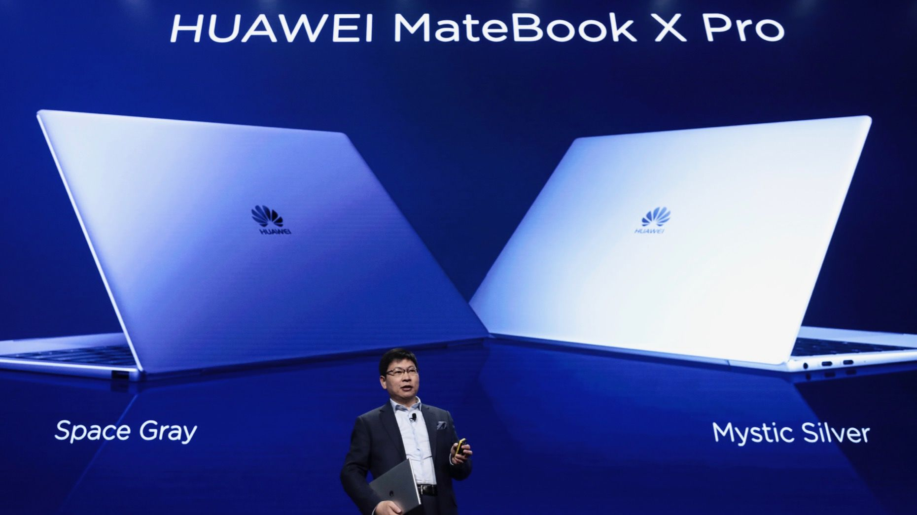 Richard Yu, CEO of Huawei's consumer group, presented the MateBook X Pro laptop in Barcelona last year.