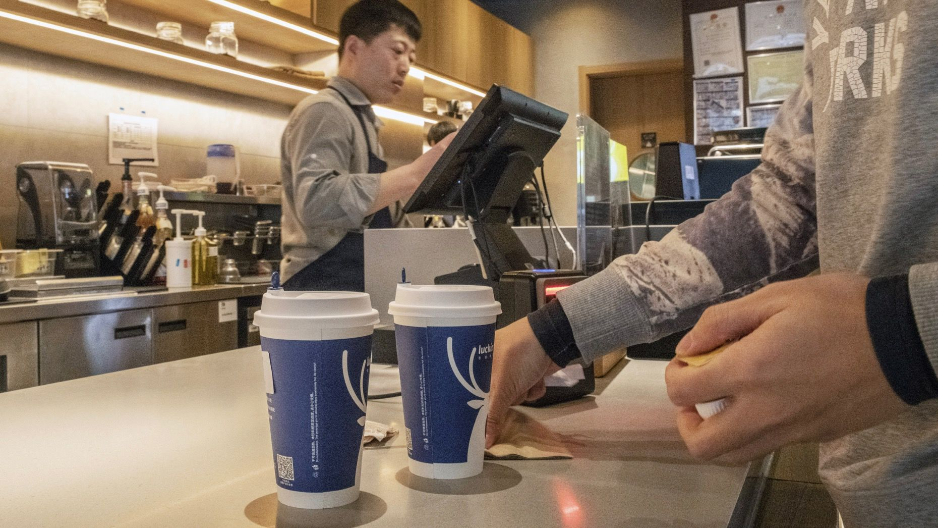 A Luckin coffee outlet in Beijing. Photo: Bloomberg