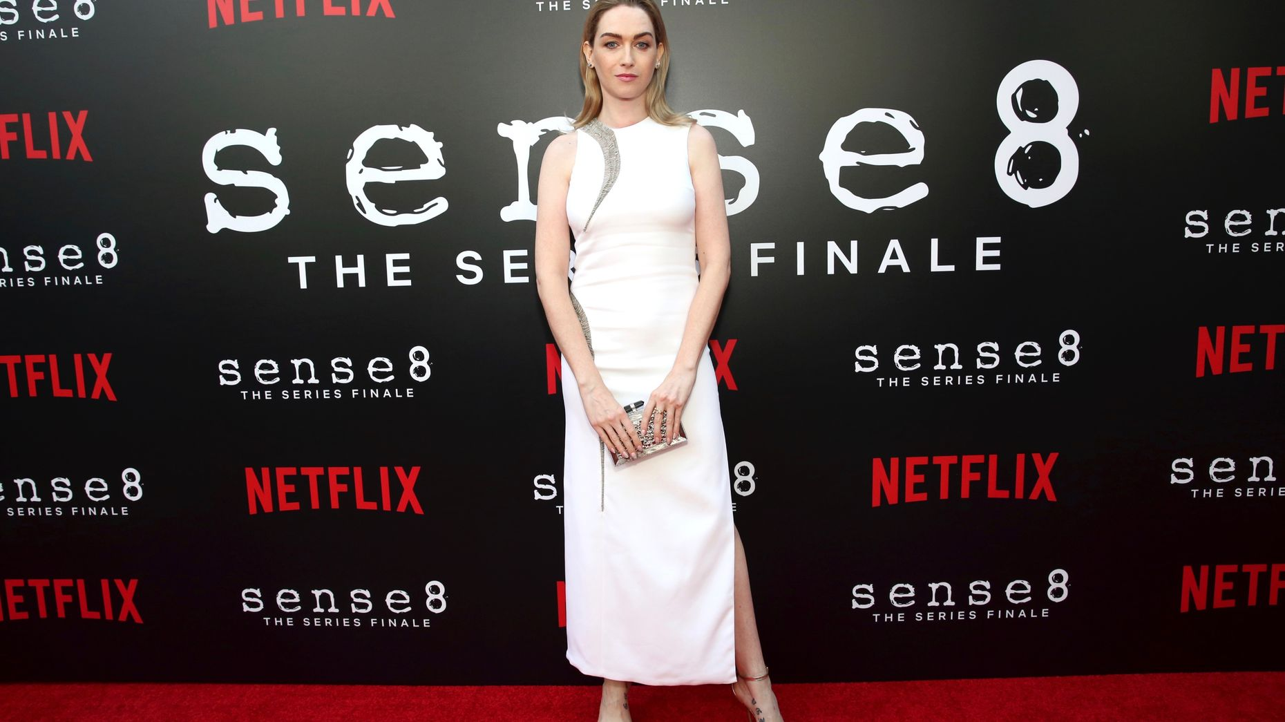 "Actress Jamie Clayton from ""Sense8"" at a screening for the show in Los Angeles last June. Photo by AP"