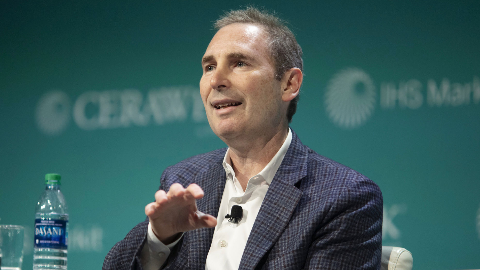 Amazon Web Services CEO Andy Jassy at a conference in March. Photo by Bloomberg