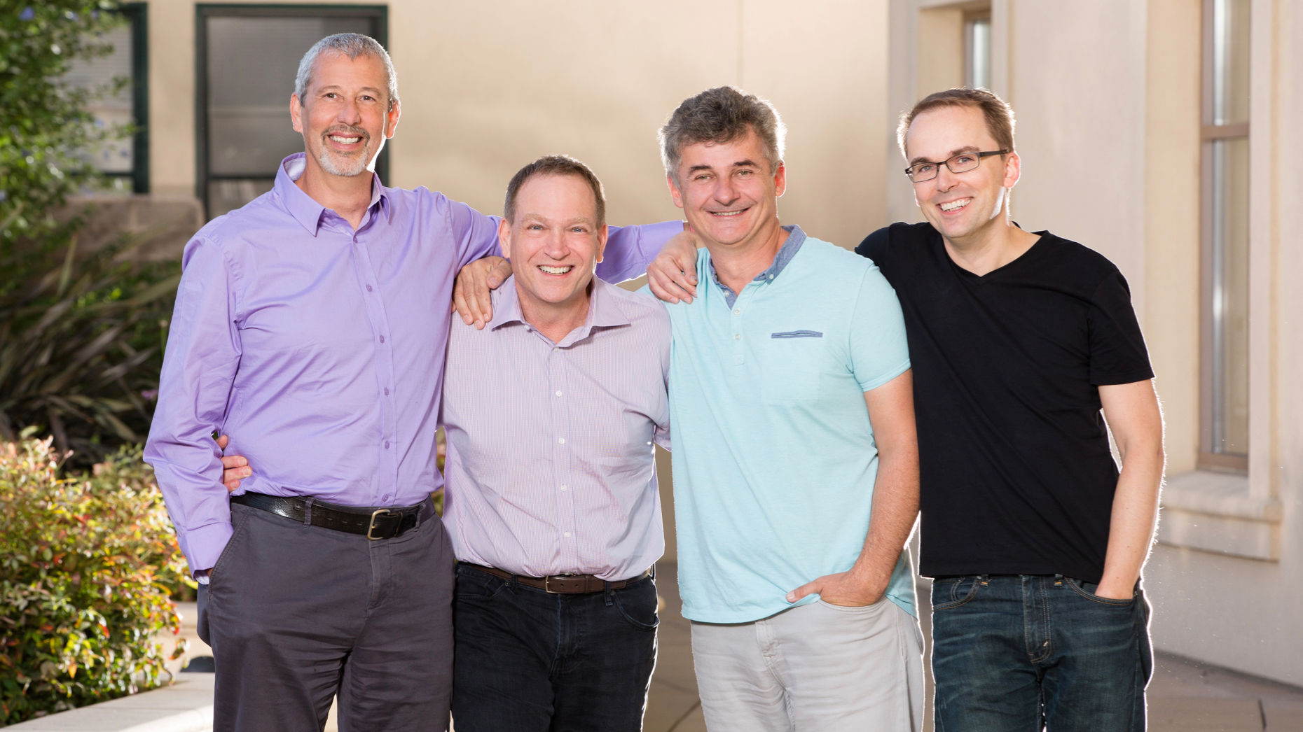 Snowflake's executive leaders (from left) Thierry Cruanes, co-founder and architect; Bob Muglia, CEO; Benoit Dageville, co-founder and CTO; Marcin Zukowski, co-founder. Photo by Snowflake