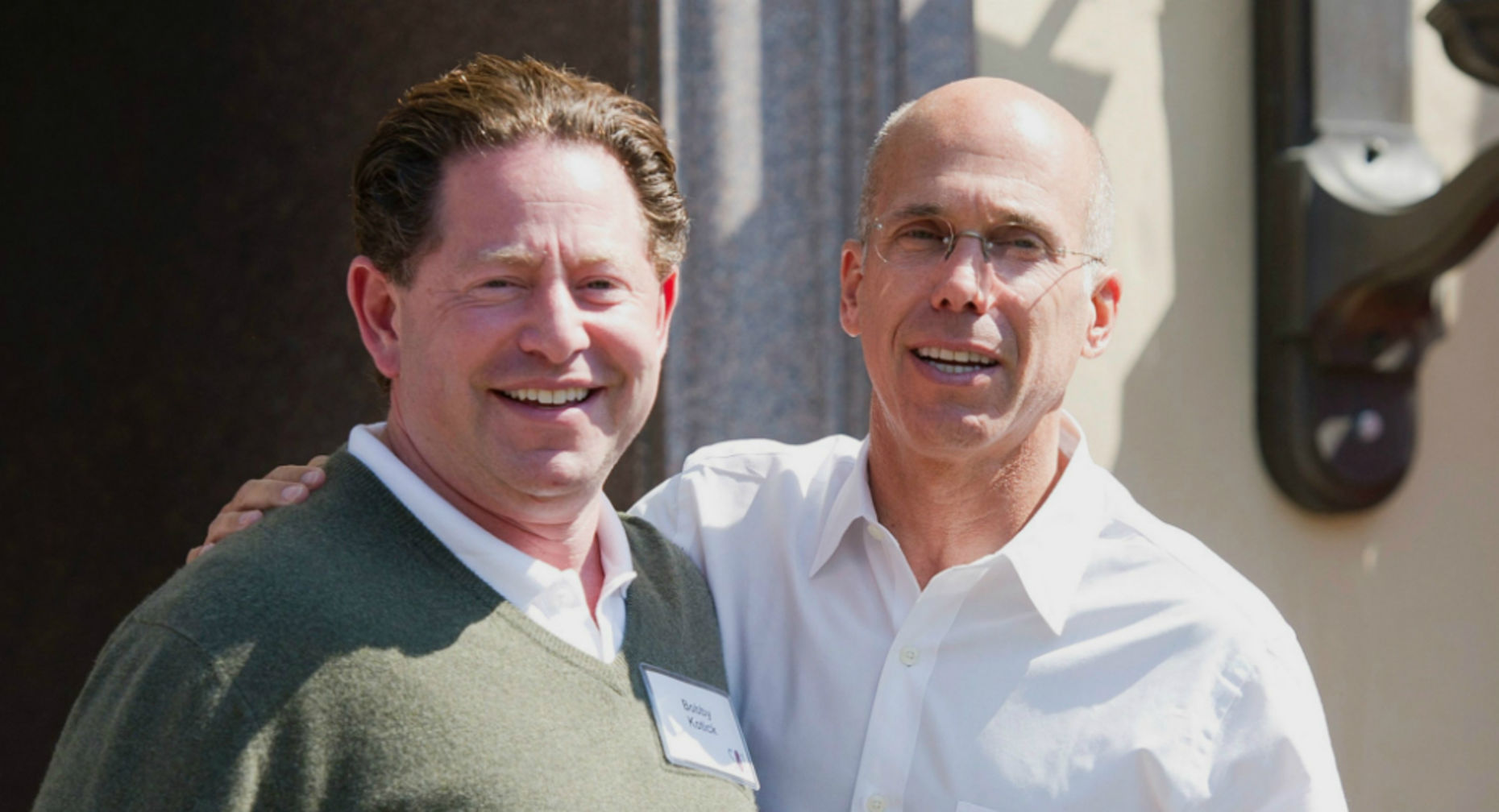 Activision CEO Bobby Kotick with DreamWorks Animation CEO Jeffrey Katzenberg. Photo by Bloomberg.