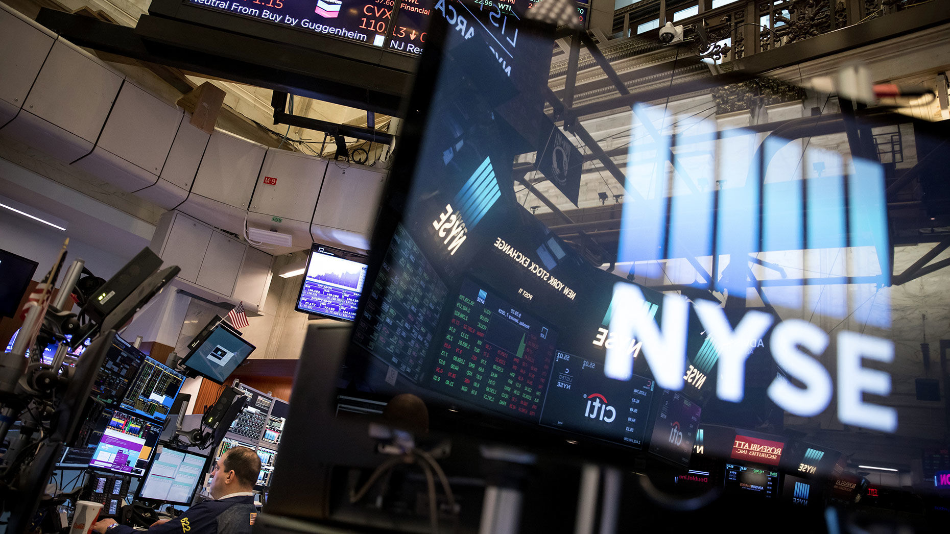 The trading floor of the New York Stock Exchange in New York. Photo by Bloomberg.