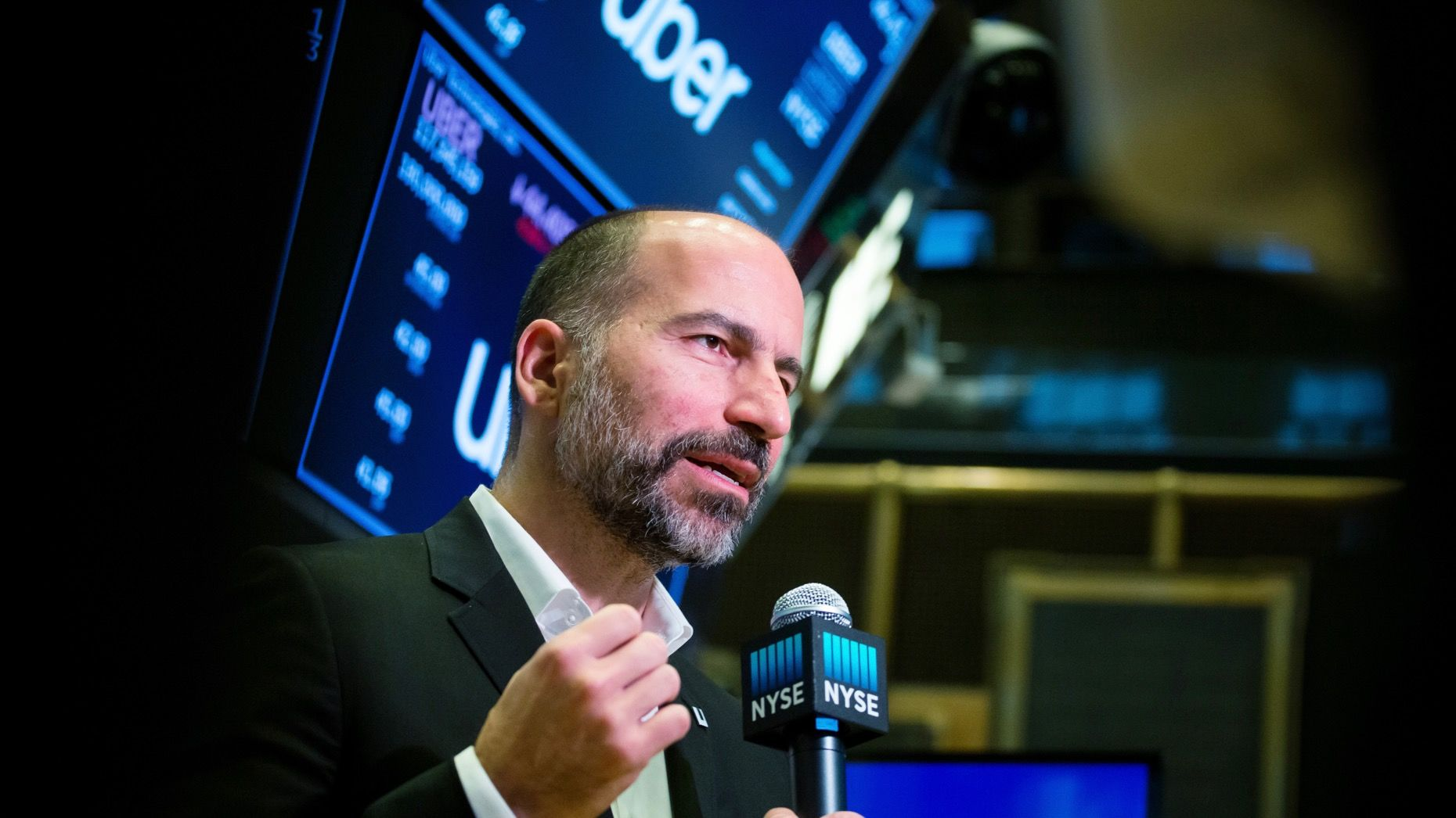 Uber CEO Dara Khosrowshahi. Photo by Bloomberg
