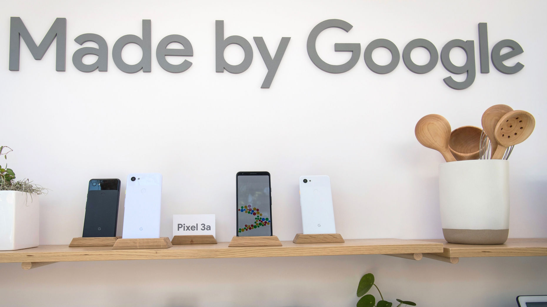 A collection of Google hardware devices. Photo by Bloomberg
