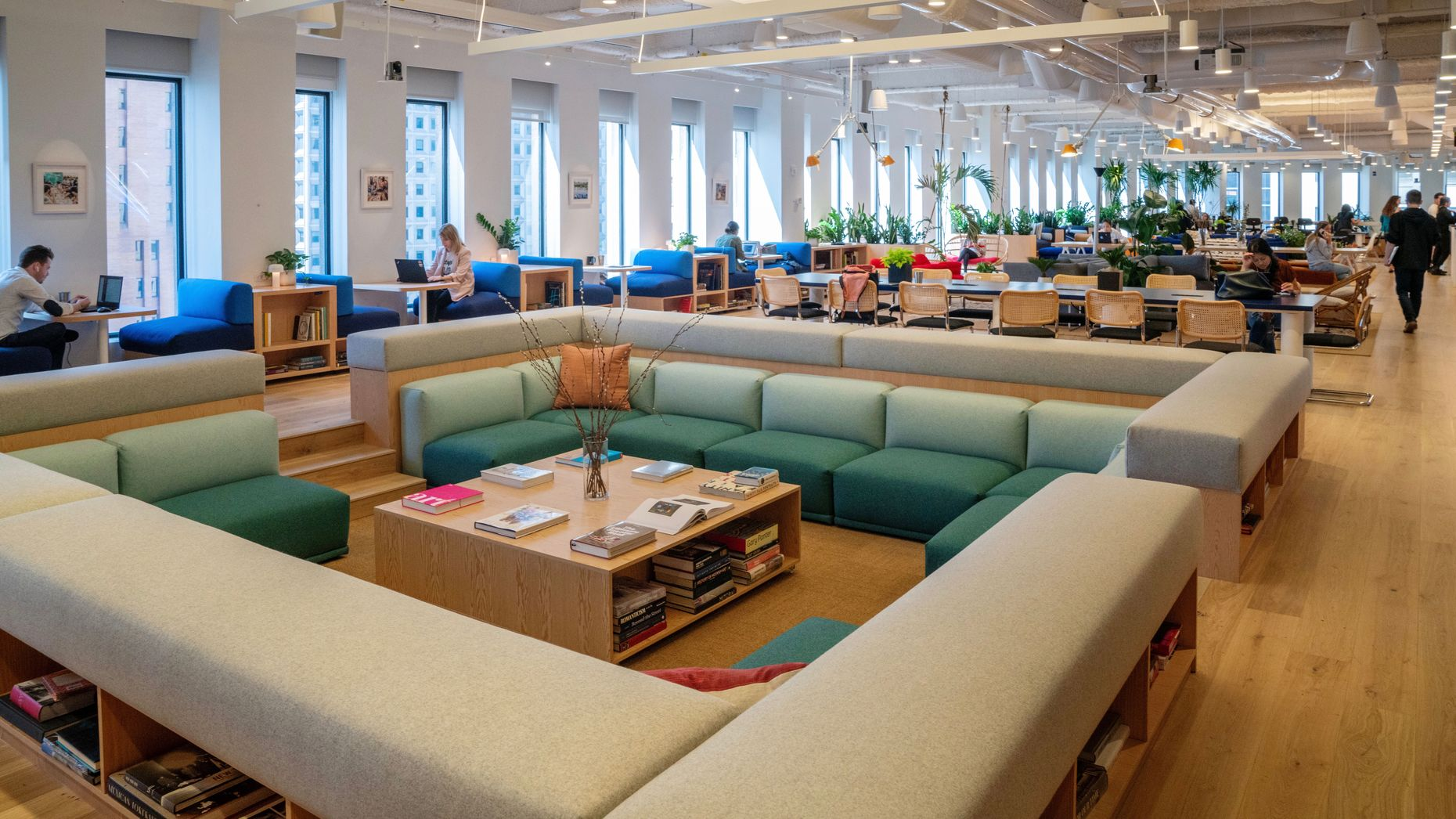 A WeWork co-working space. Photo by Bloomberg