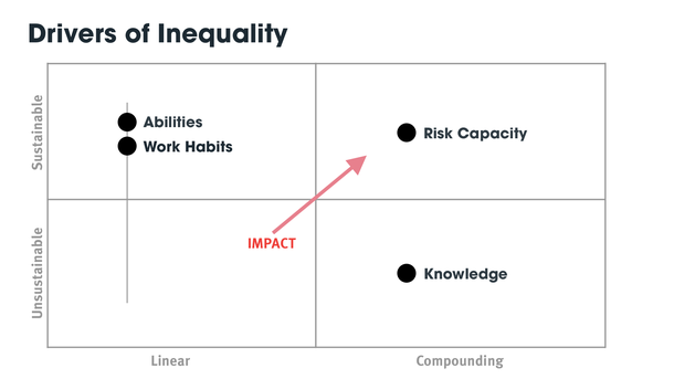 On Inequality and Risk Capacity