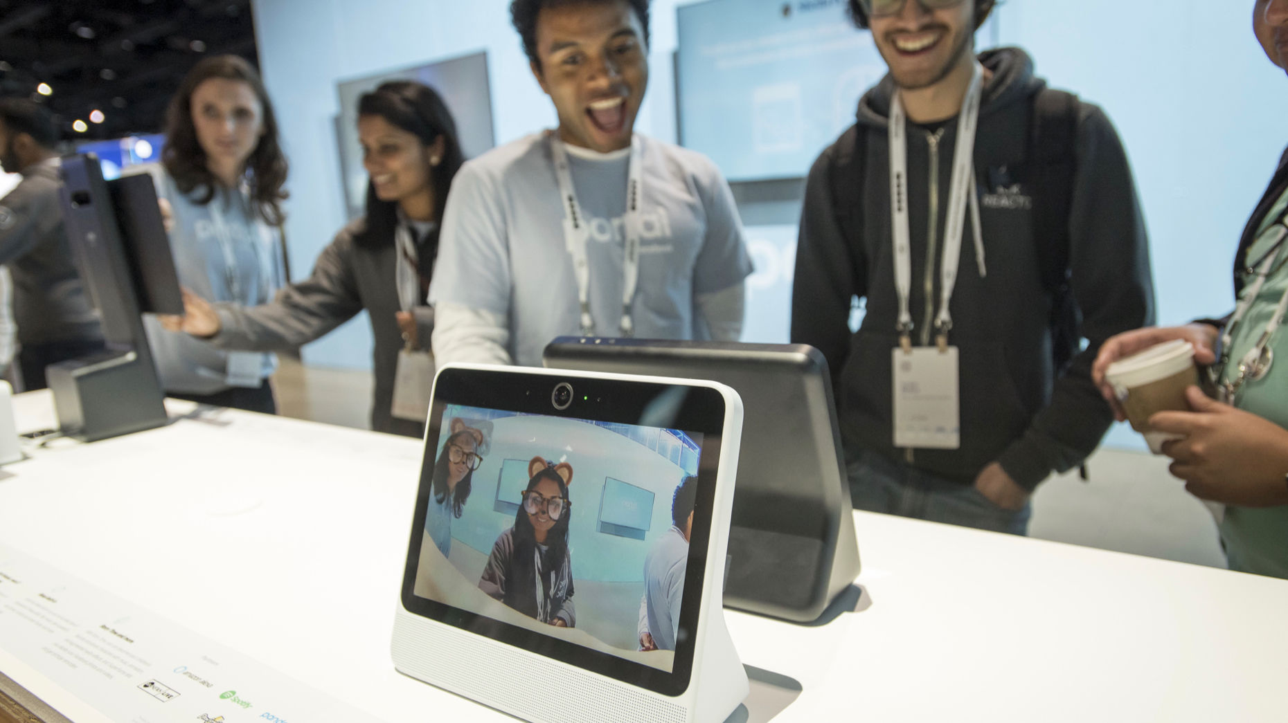 Facebook's Portal device. Photo by Bloomberg