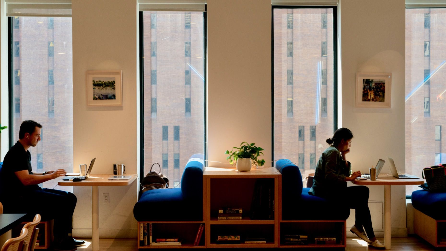 A WeWork office in New York. Photo by Bloomberg