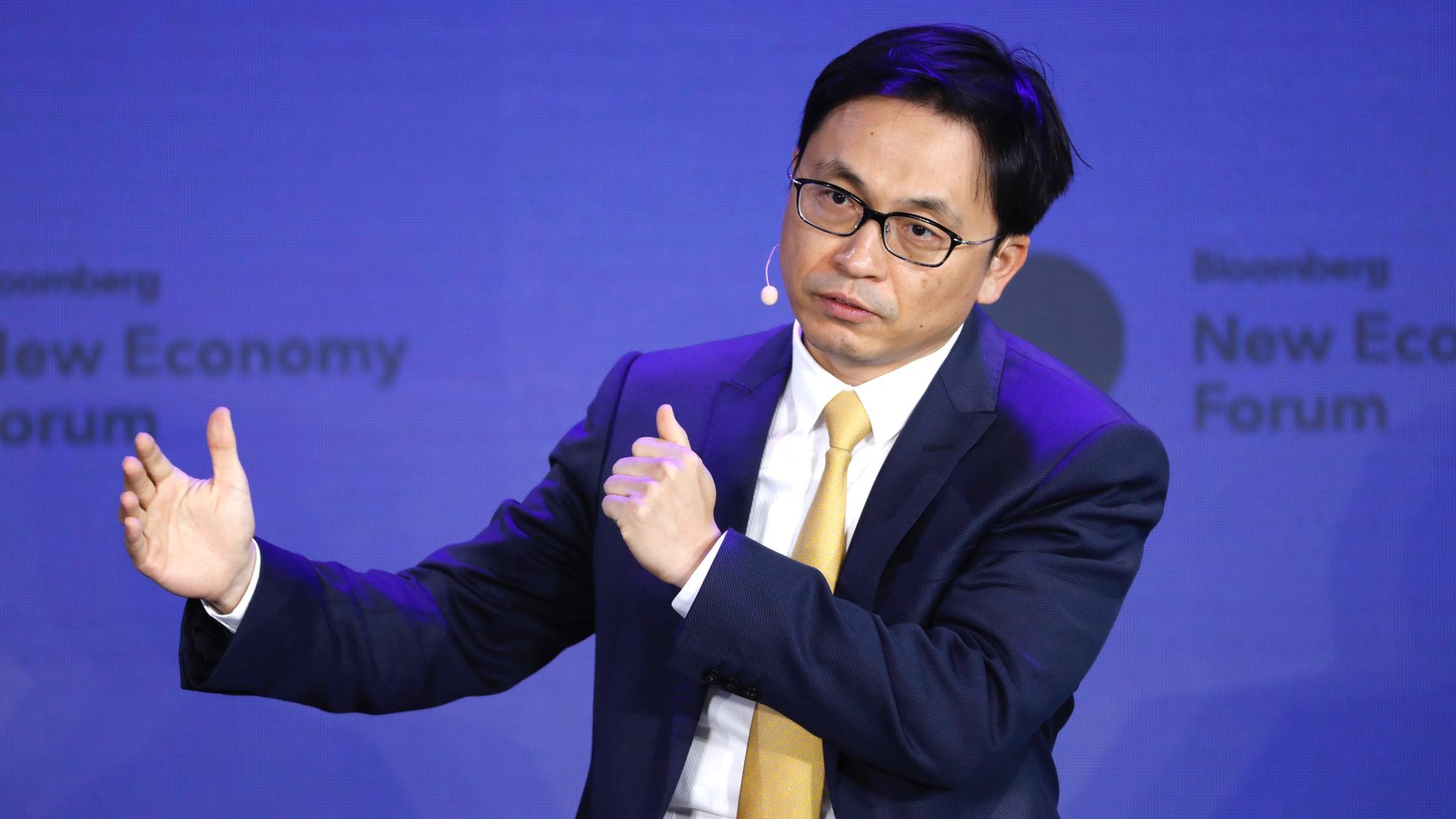 Hillhouse Chairman Zhang Lei. Photo by Bloomberg
