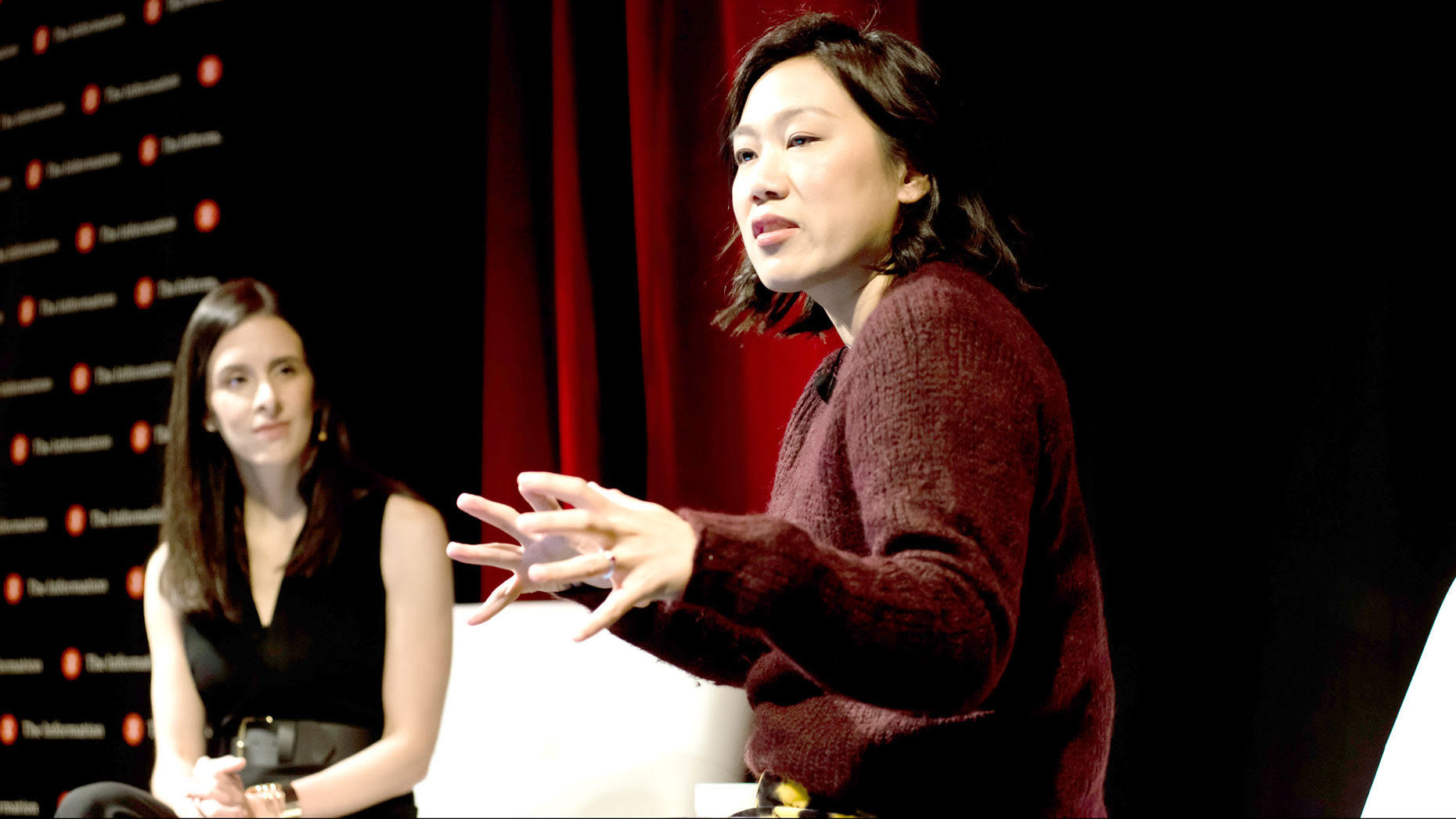 The Information founder Jessica Lessin interviews CZI's Priscilla Chan. Photo: Angie Silvy