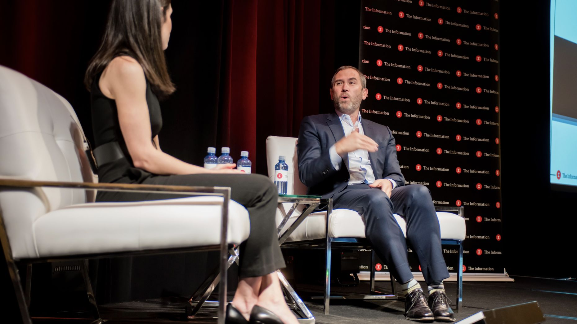 Ripple CEO Brad Garlinghouse with The Information's Subscriber Summit on Thursday.