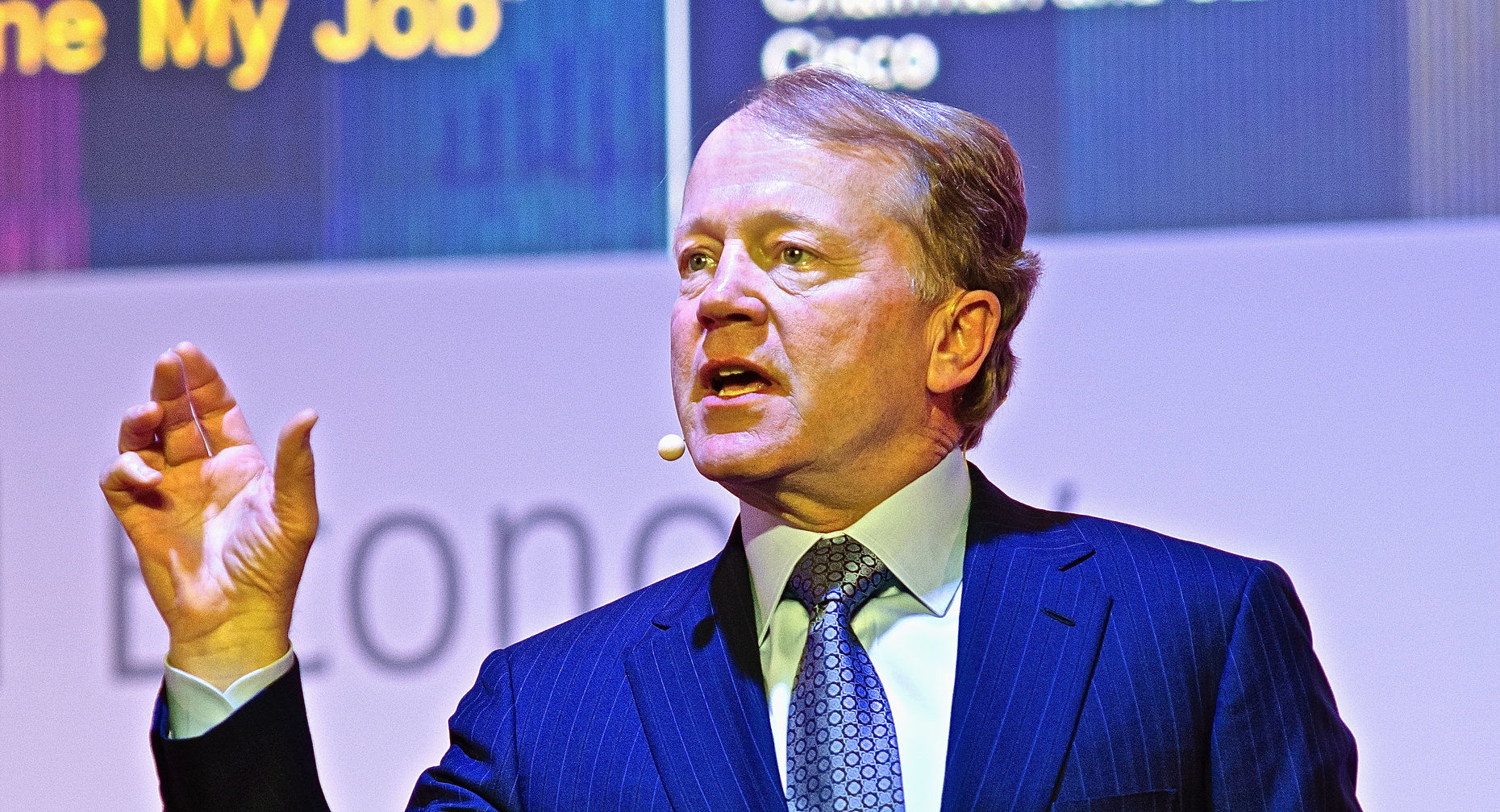 John Chambers, Cisco CEO, speaking last year at a conference in Spain. Source: Shutterstock.