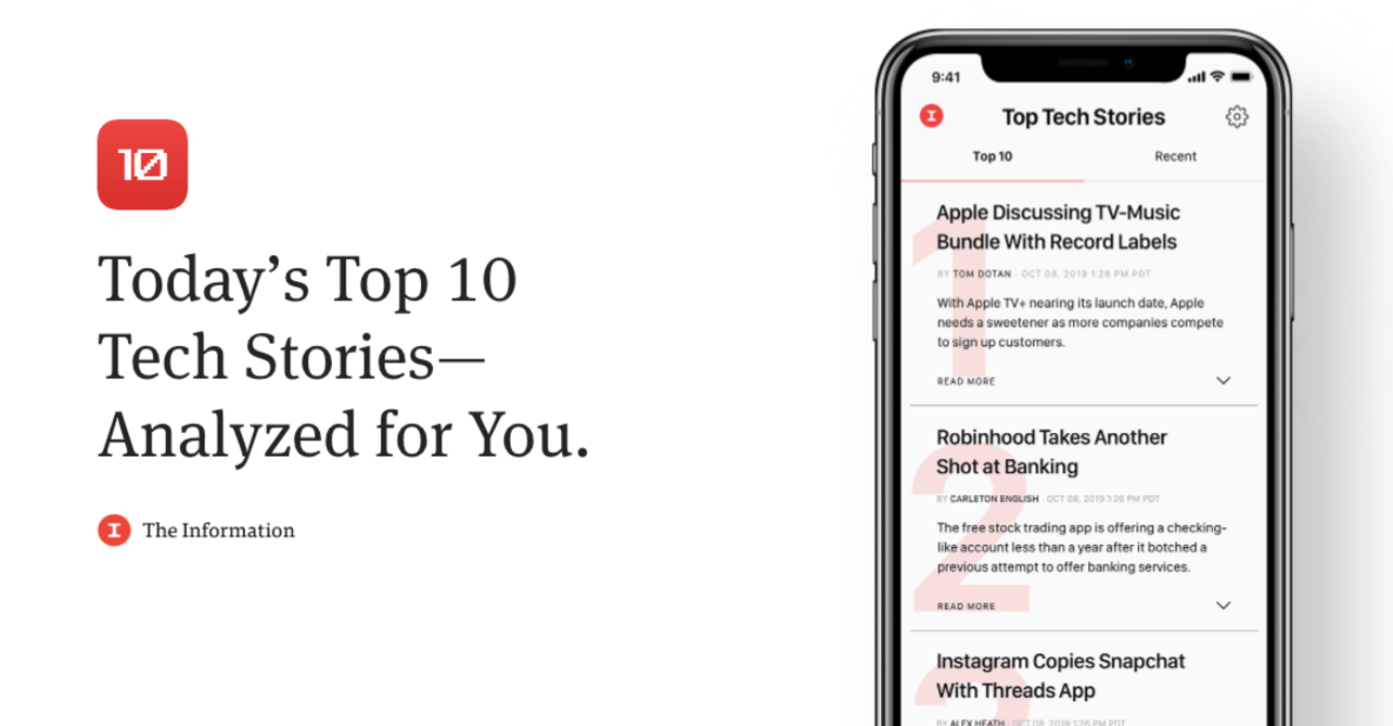 Introducing the Tech Top 10 by The Information