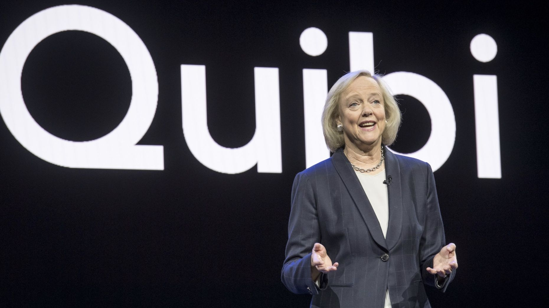 Quibi CEO Meg Whitman. Photo by Bloomberg