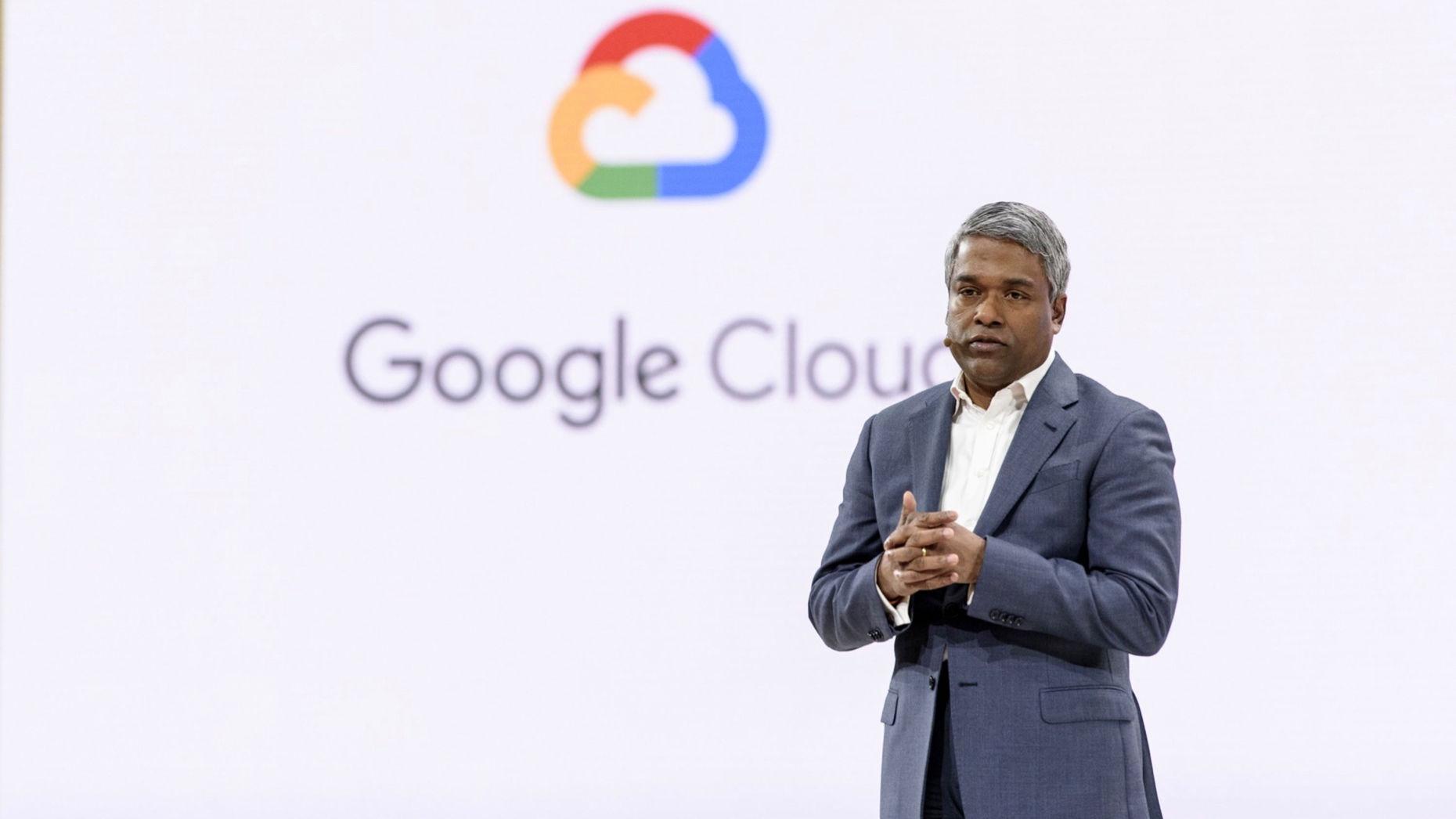Google Cloud CEO Thomas Kurian. Photo by Bloomberg