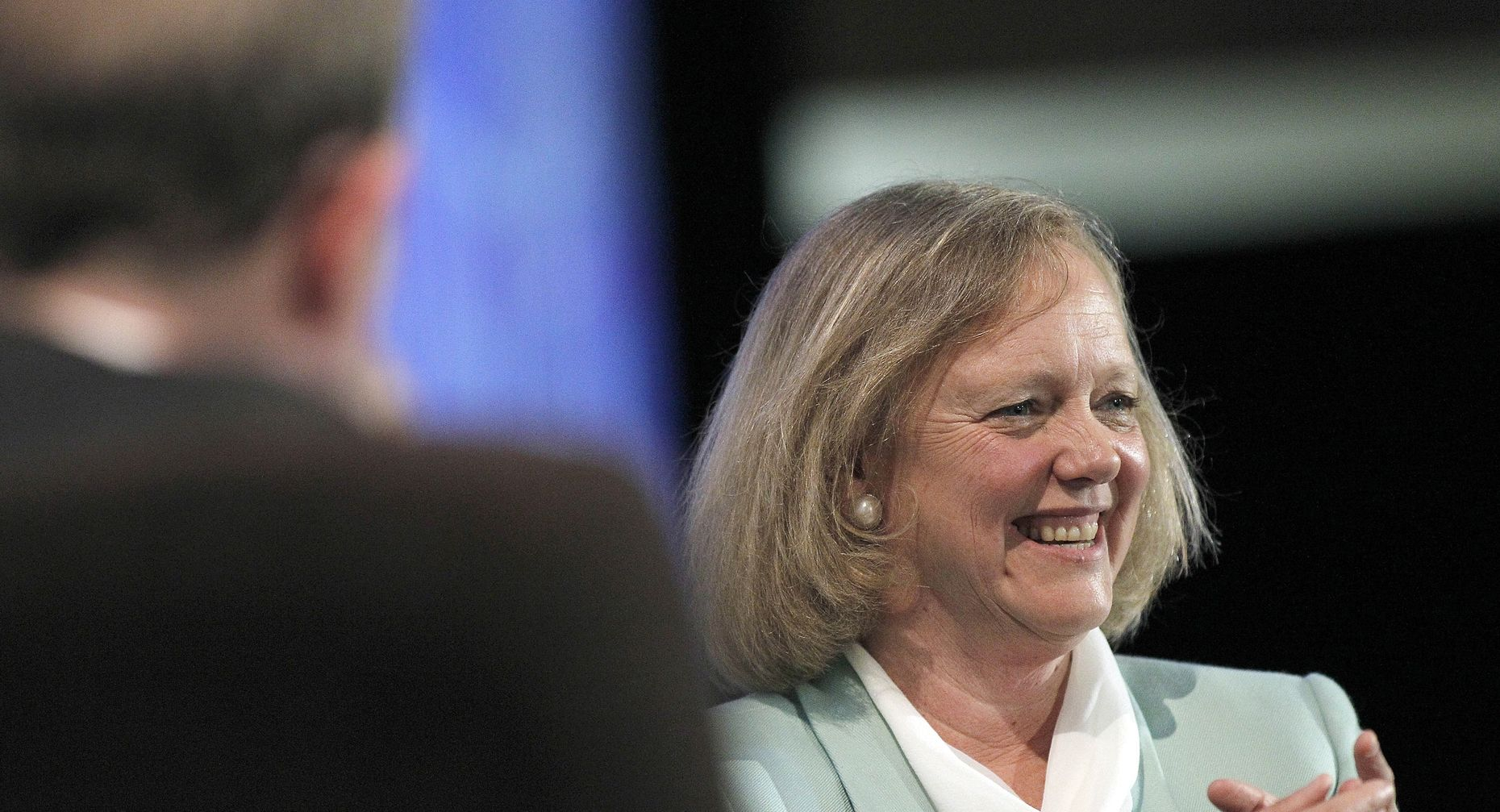 H-P CEO Meg Whitman will run the new H-P Enterprise. Photo by Bloomberg.