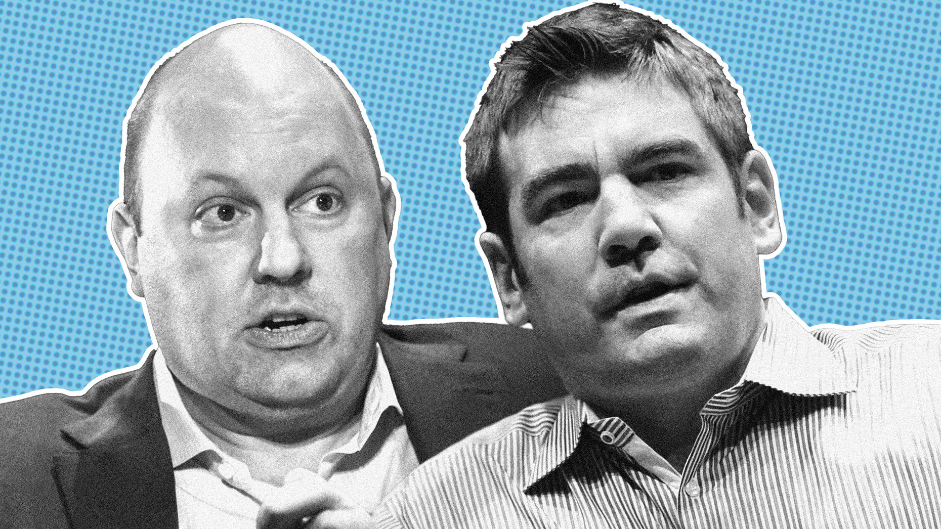 Marc Andreessen, left, and Chris Dixon. Photos by Bloomberg.