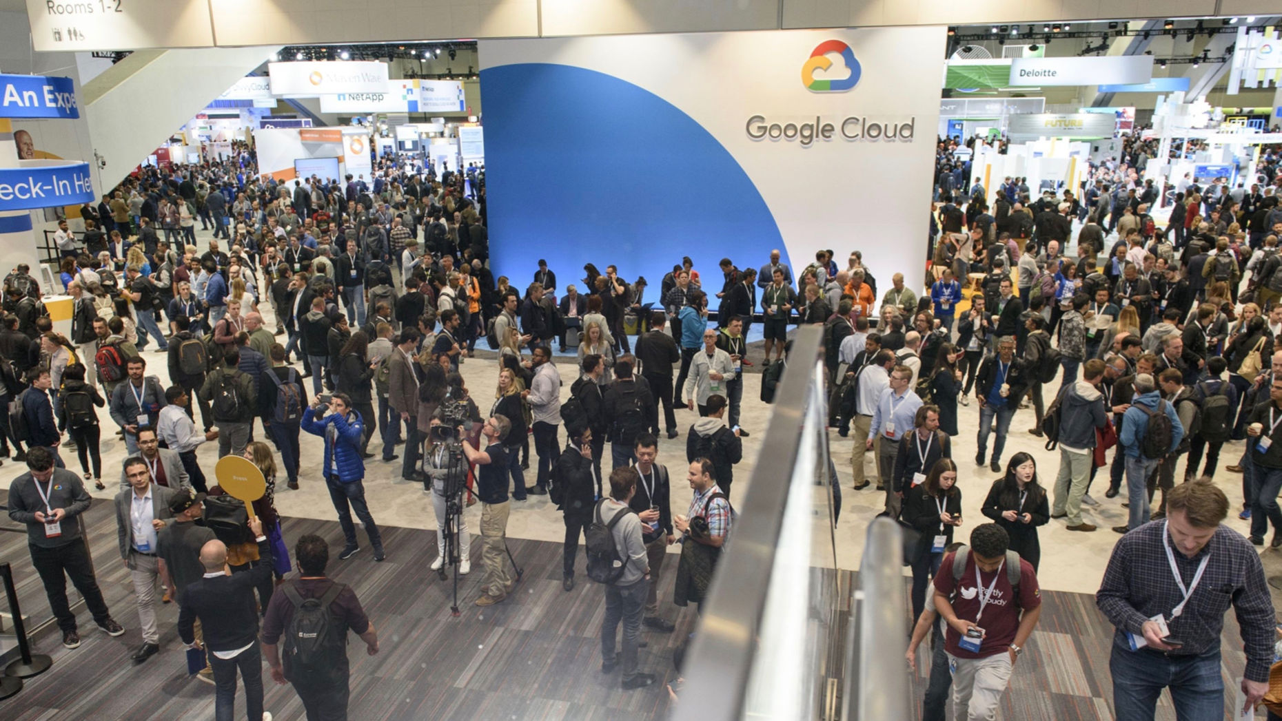Last year's Google Cloud Next Conference. Photo by Bloomberg