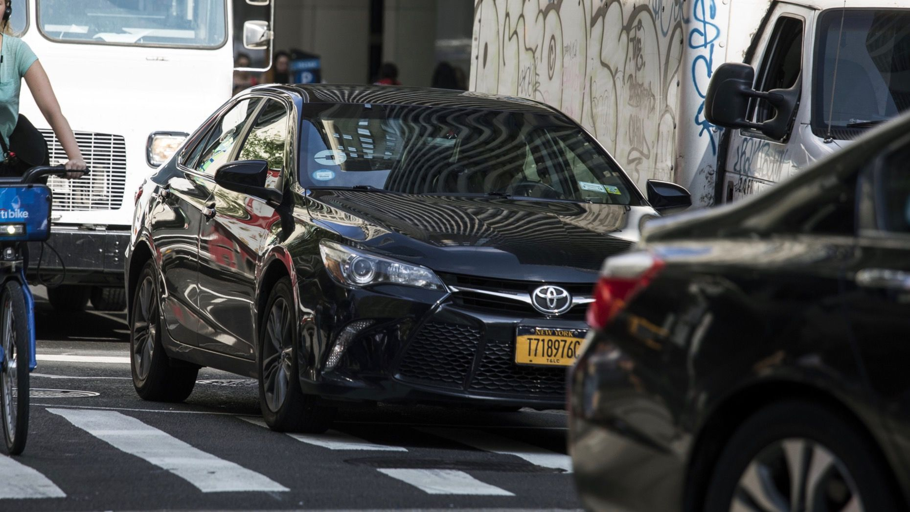 An Uber vehicle in New York City in 2018. Photo: Bloomberg