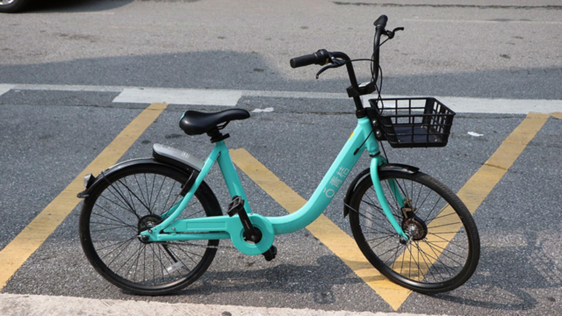 A bike from Didi's Qingju bike-sharing service.