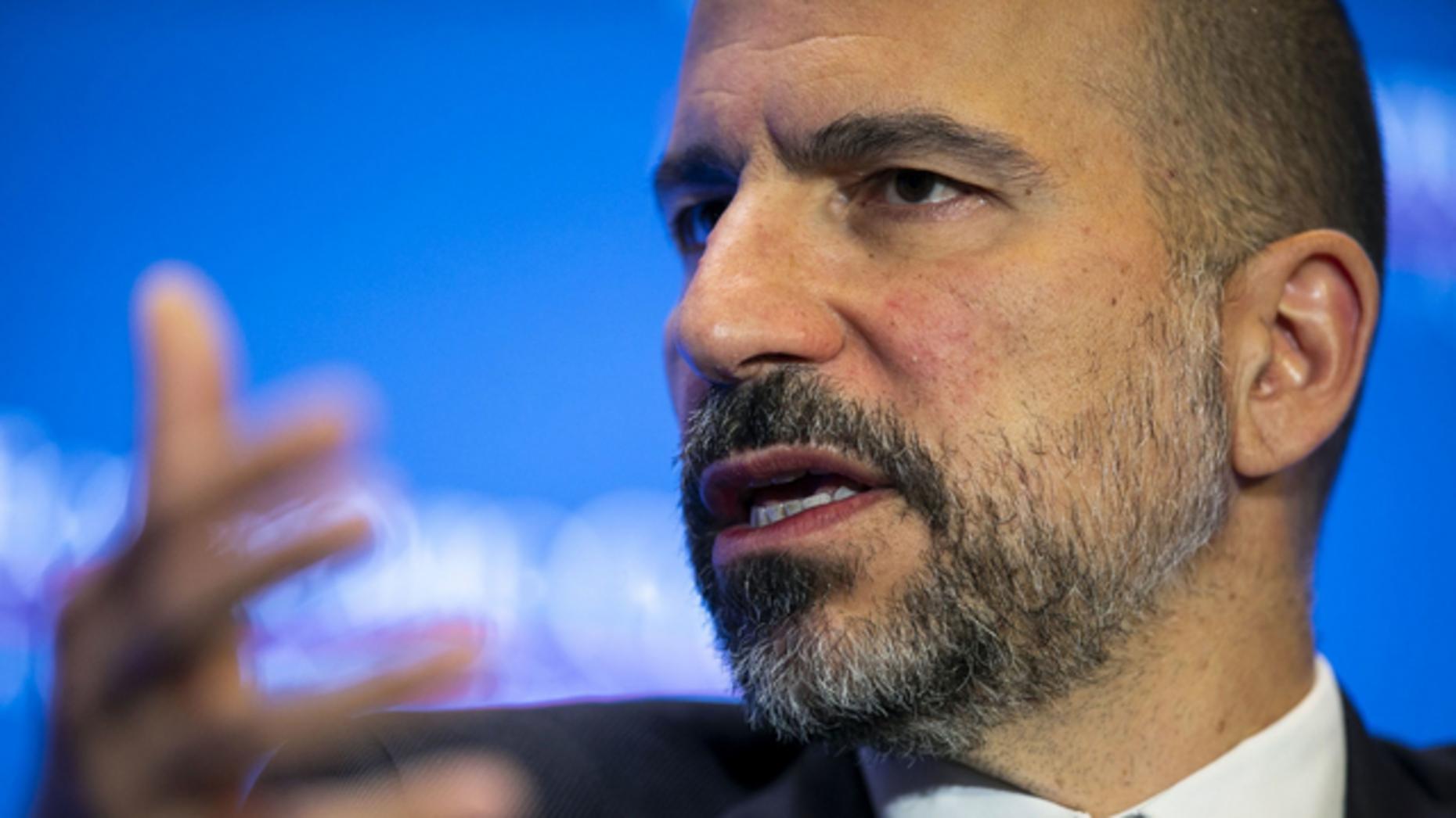 Dara Khosrowshahi, CEO of Uber, in June 2019. Photo by Bloomberg
