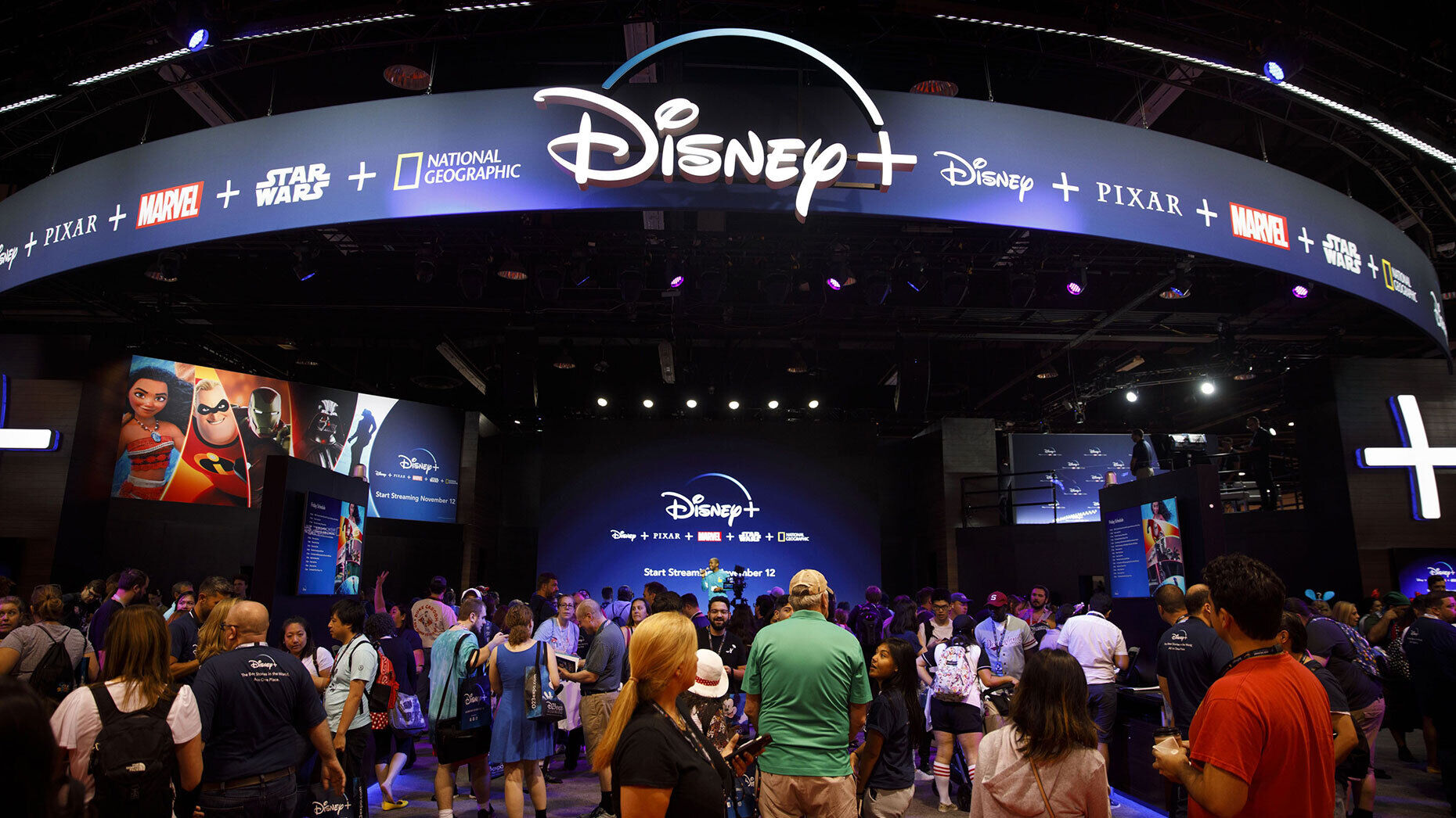 Attendees at a Walt Disney Co. event last year. Photo by Bloomberg