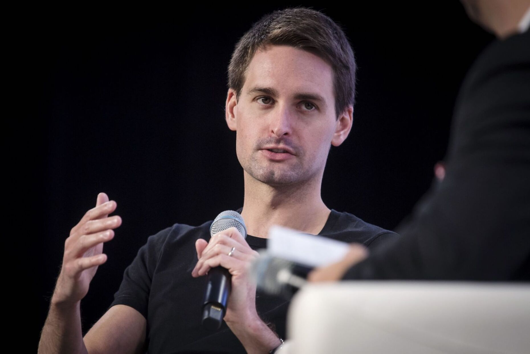 Snap CEO Evan Spiegel  in San Francisco on Oct. 4, 2019. Photo: Bloomberg